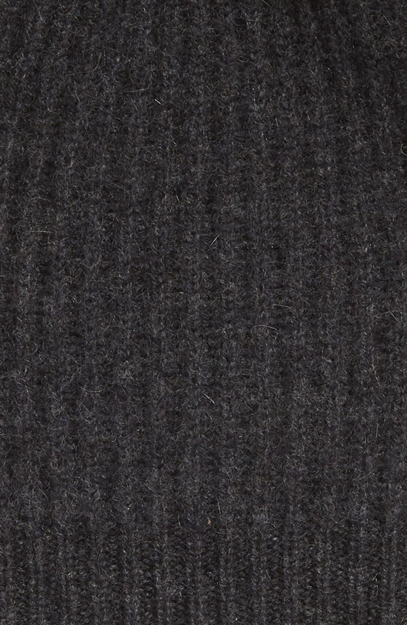 Cashmere Coordinates Hat & Arm Warmer Set,                             Alternate thumbnail 2, color,                             BLACK ROCK HEATHER