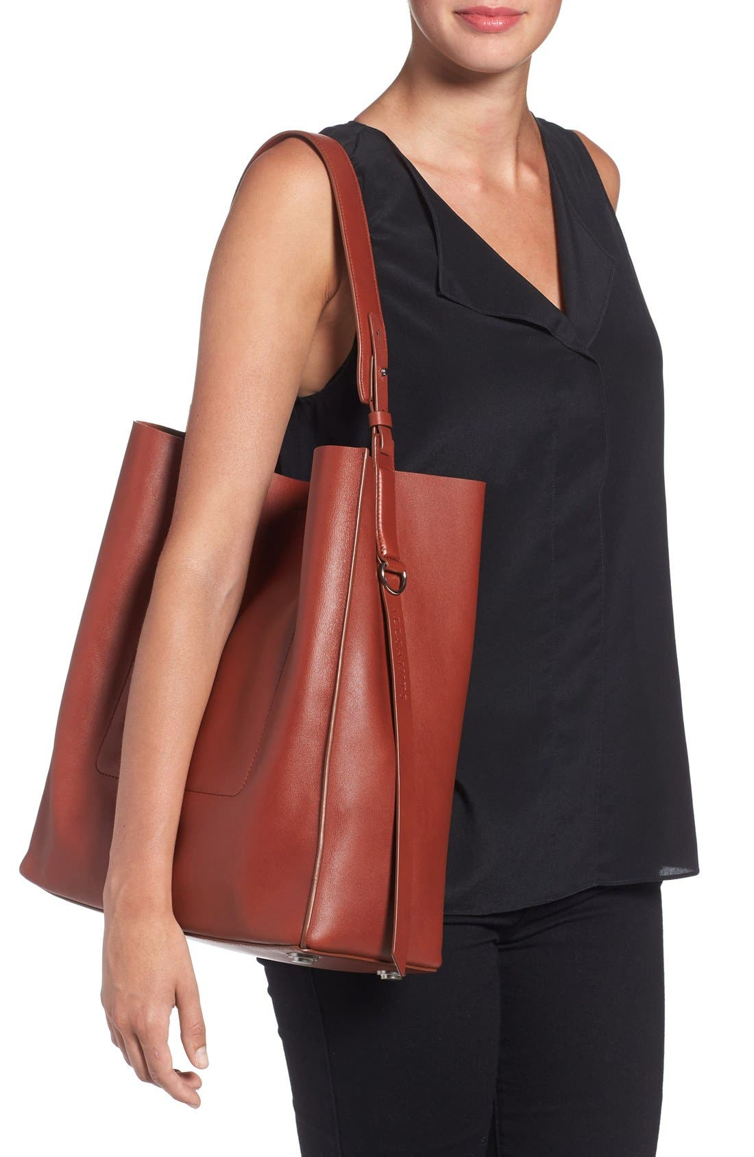 'Paradise North/South' Calfskin Leather Tote,                             Alternate thumbnail 17, color,