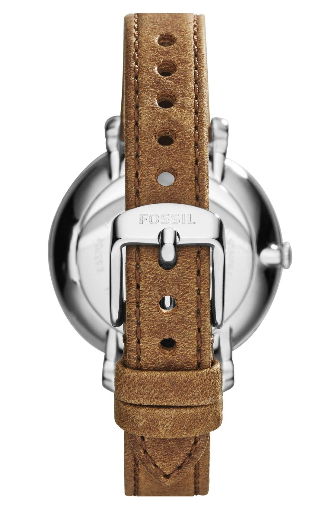 'Jacqueline' Round Leather Strap Watch, 36mm,                             Alternate thumbnail 25, color,