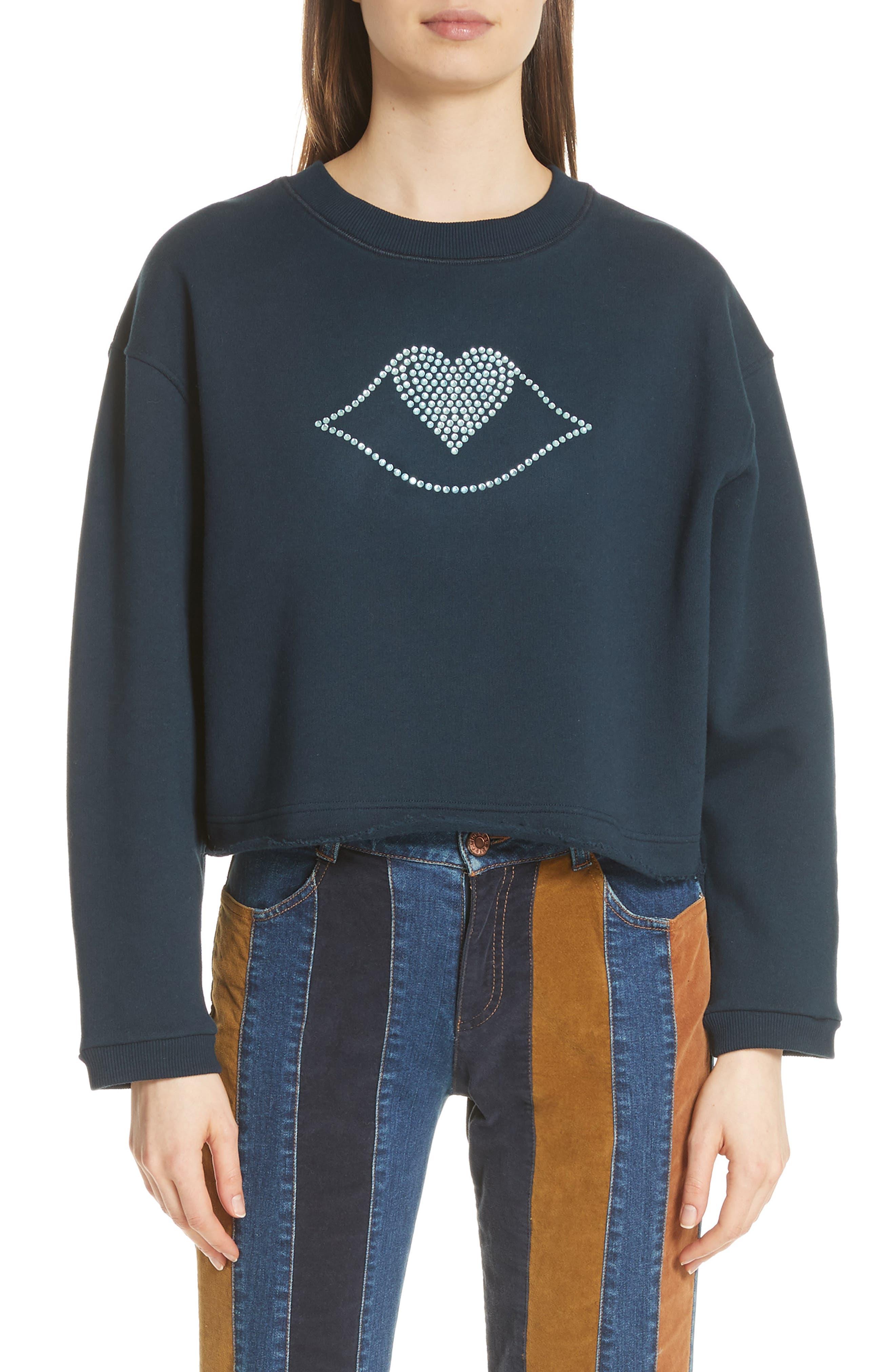 Lip Sweatshirt,                             Main thumbnail 1, color,                             930