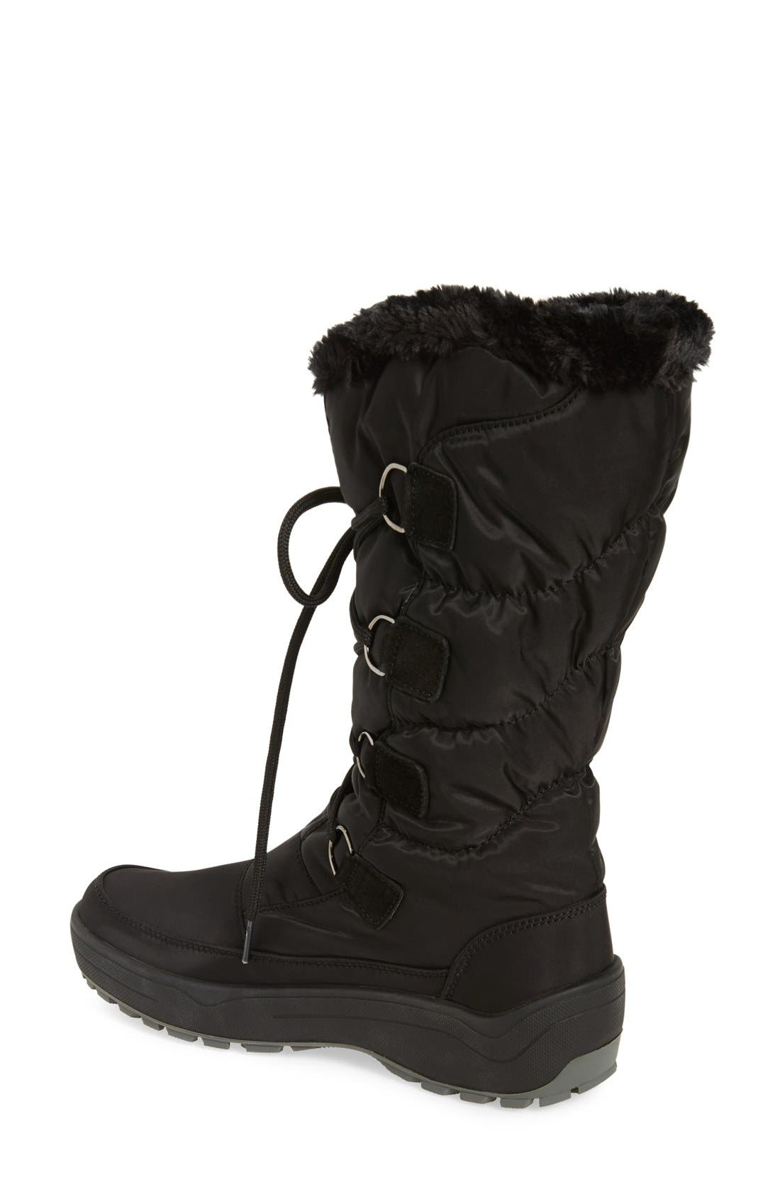 PAJAR,                             'Riga' Waterproof Ice Grippers<sup>®</sup> Boot,                             Alternate thumbnail 2, color,                             001