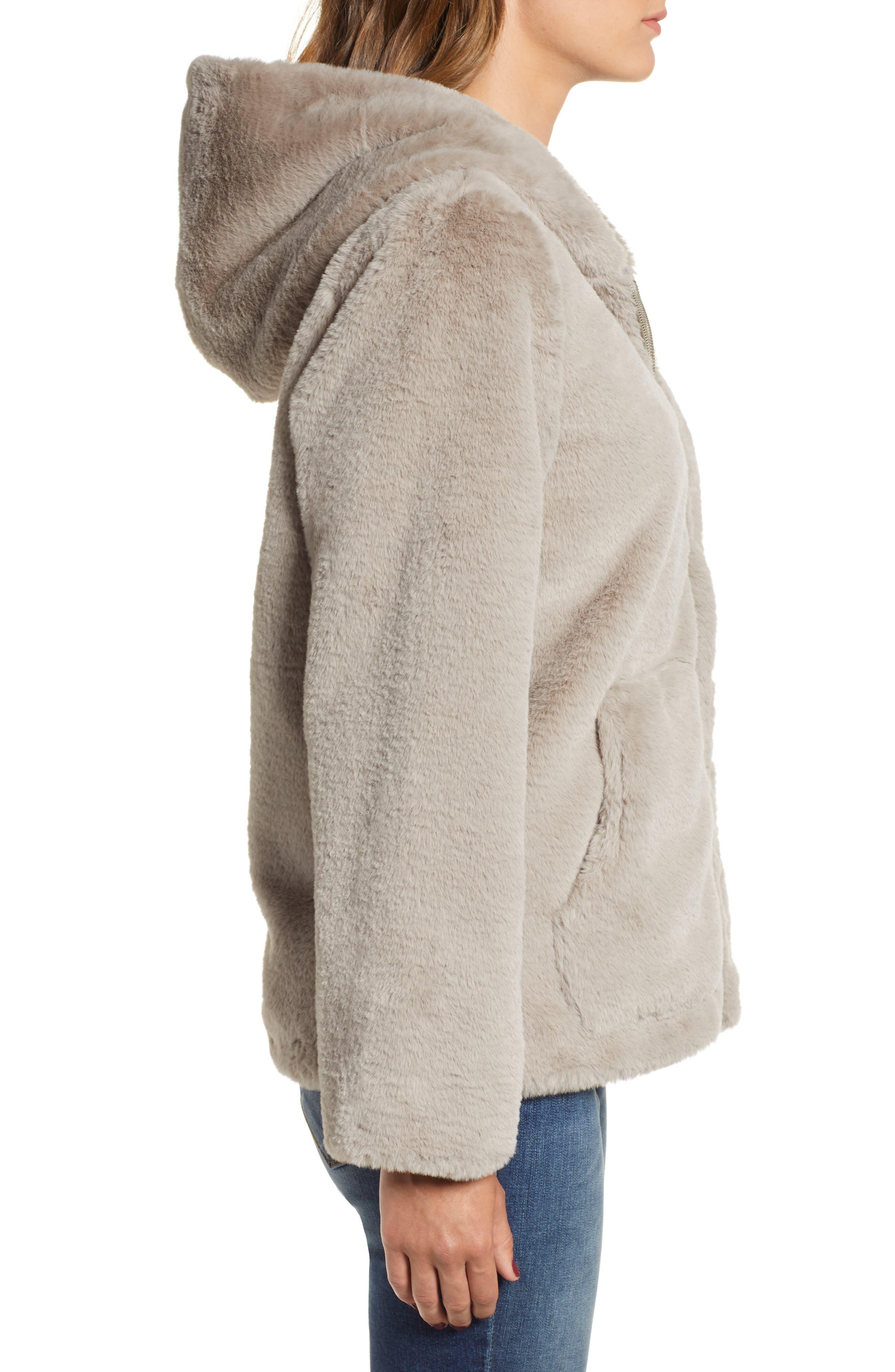 VIGOSS,                             Faux Fur O-Ring Jacket,                             Alternate thumbnail 4, color,                             020