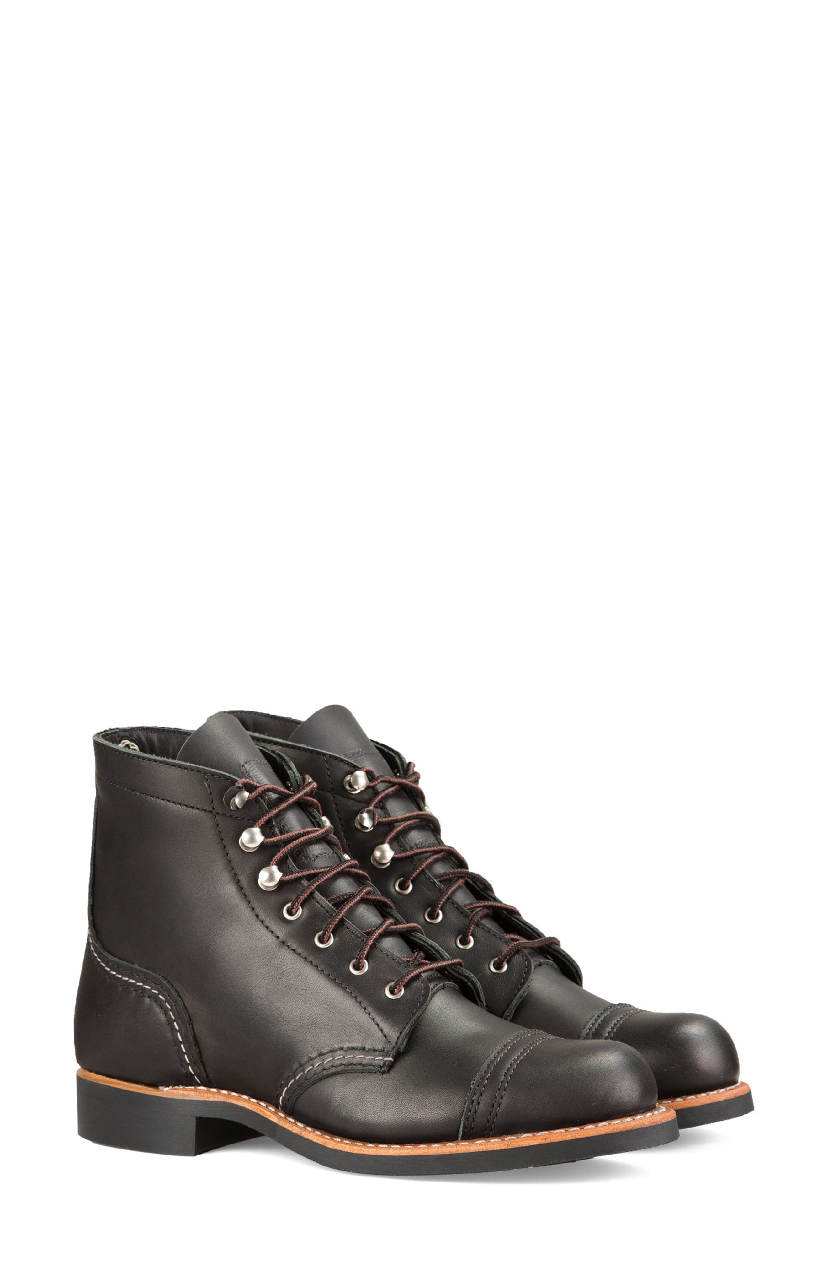 RED WING Iron Ranger Boot in Black Boundary Leather