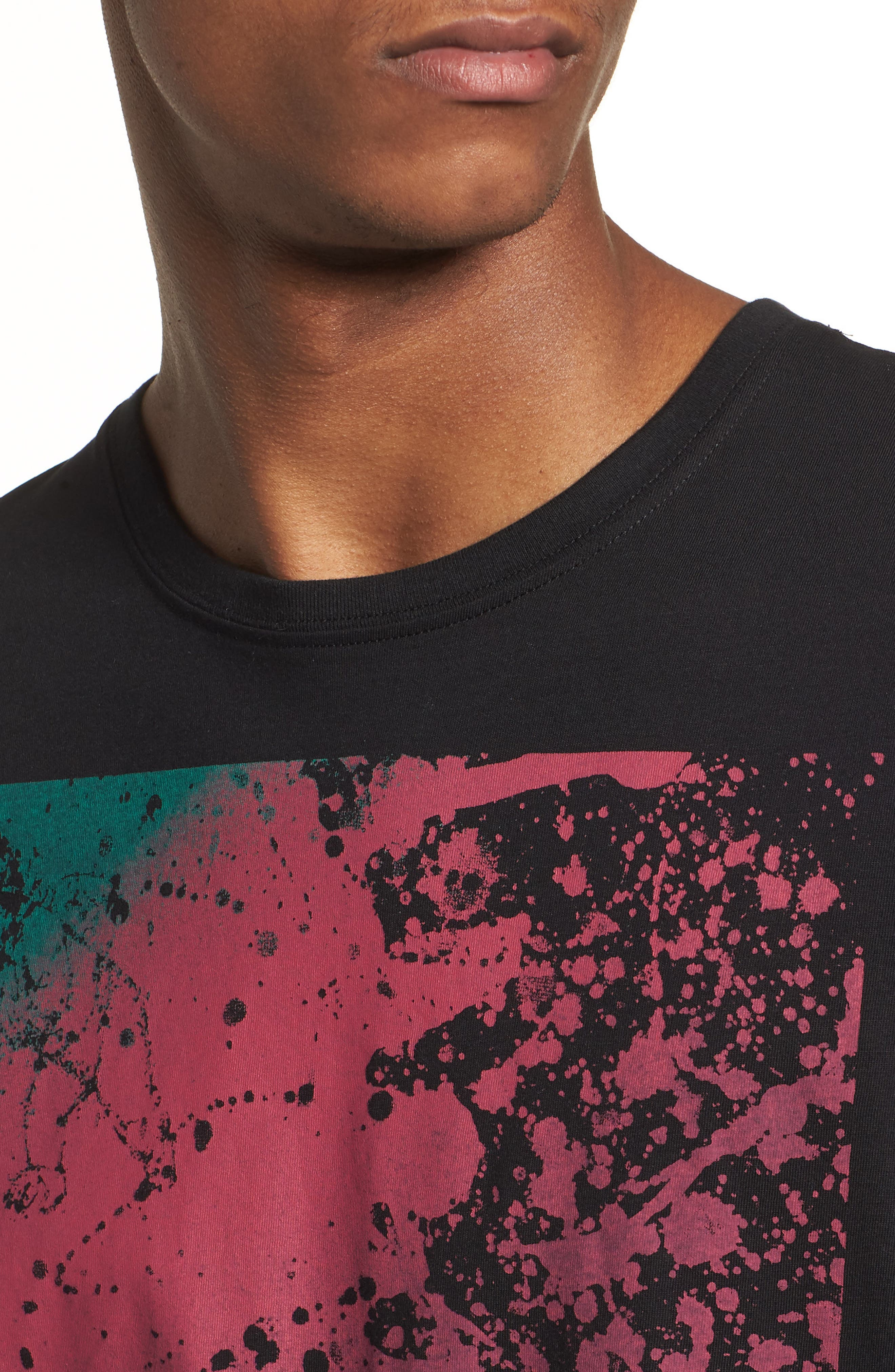 Spattered Graphic T-Shirt,                             Alternate thumbnail 4, color,
