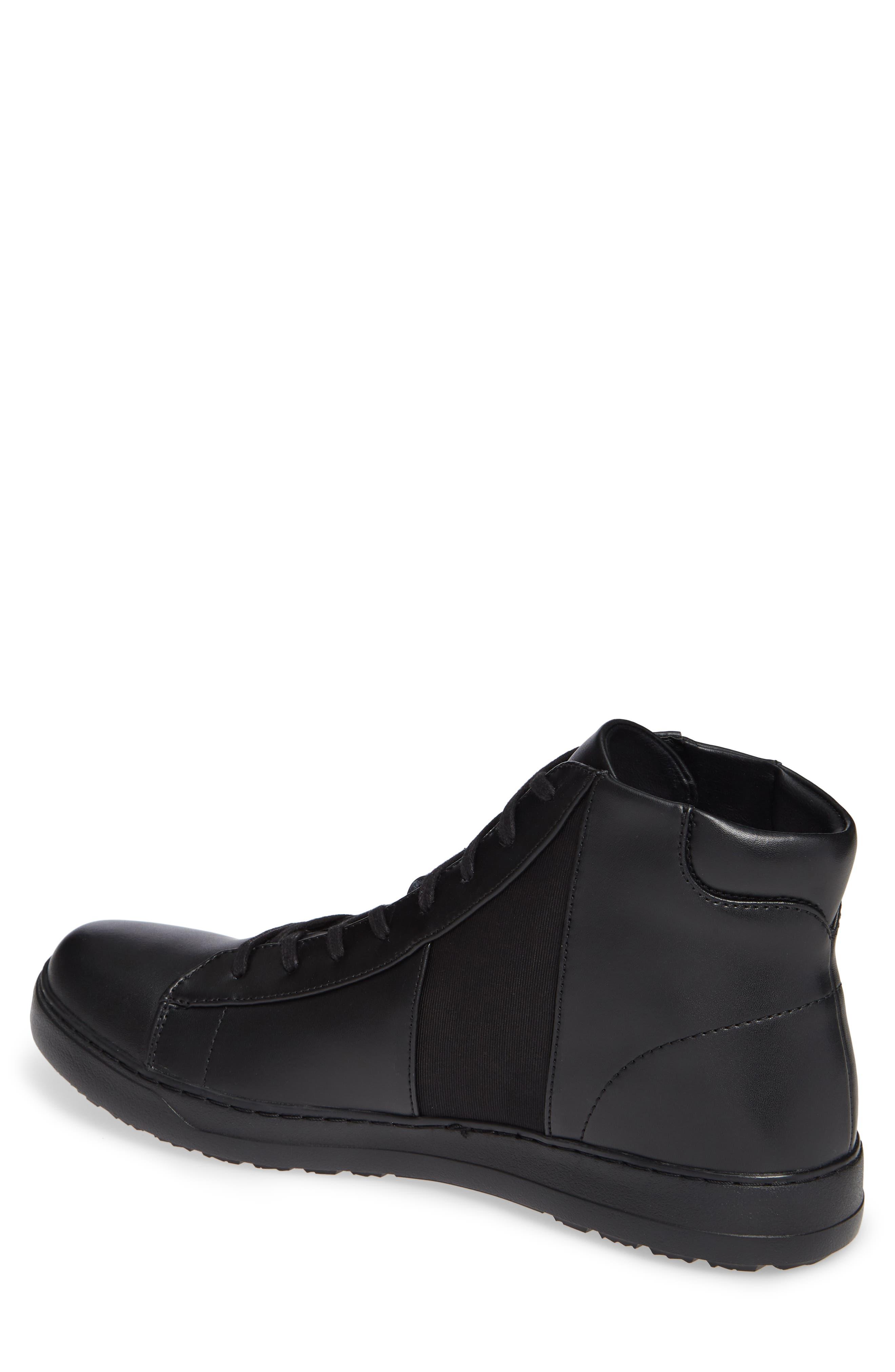 Salvador High Top Sneaker,                             Alternate thumbnail 2, color,                             BLACK/ BLACK LEATHER