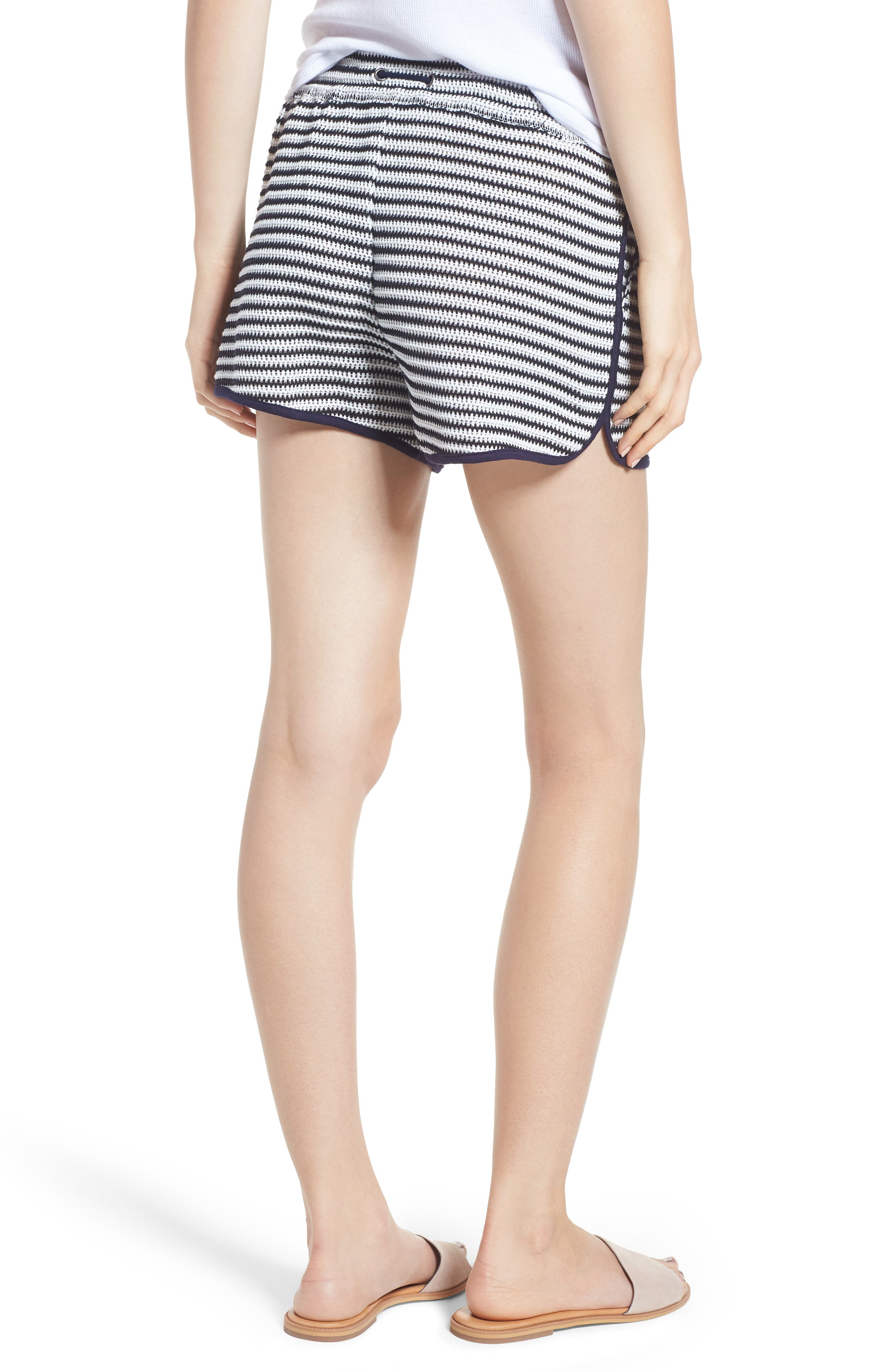 Stripe Shorts,                             Alternate thumbnail 2, color,                             NAVY/ WHITE
