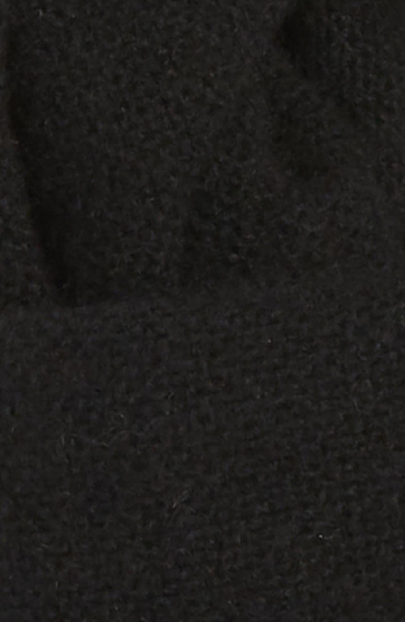 Solid Cashmere Scarf,                             Alternate thumbnail 3, color,                             BLACK