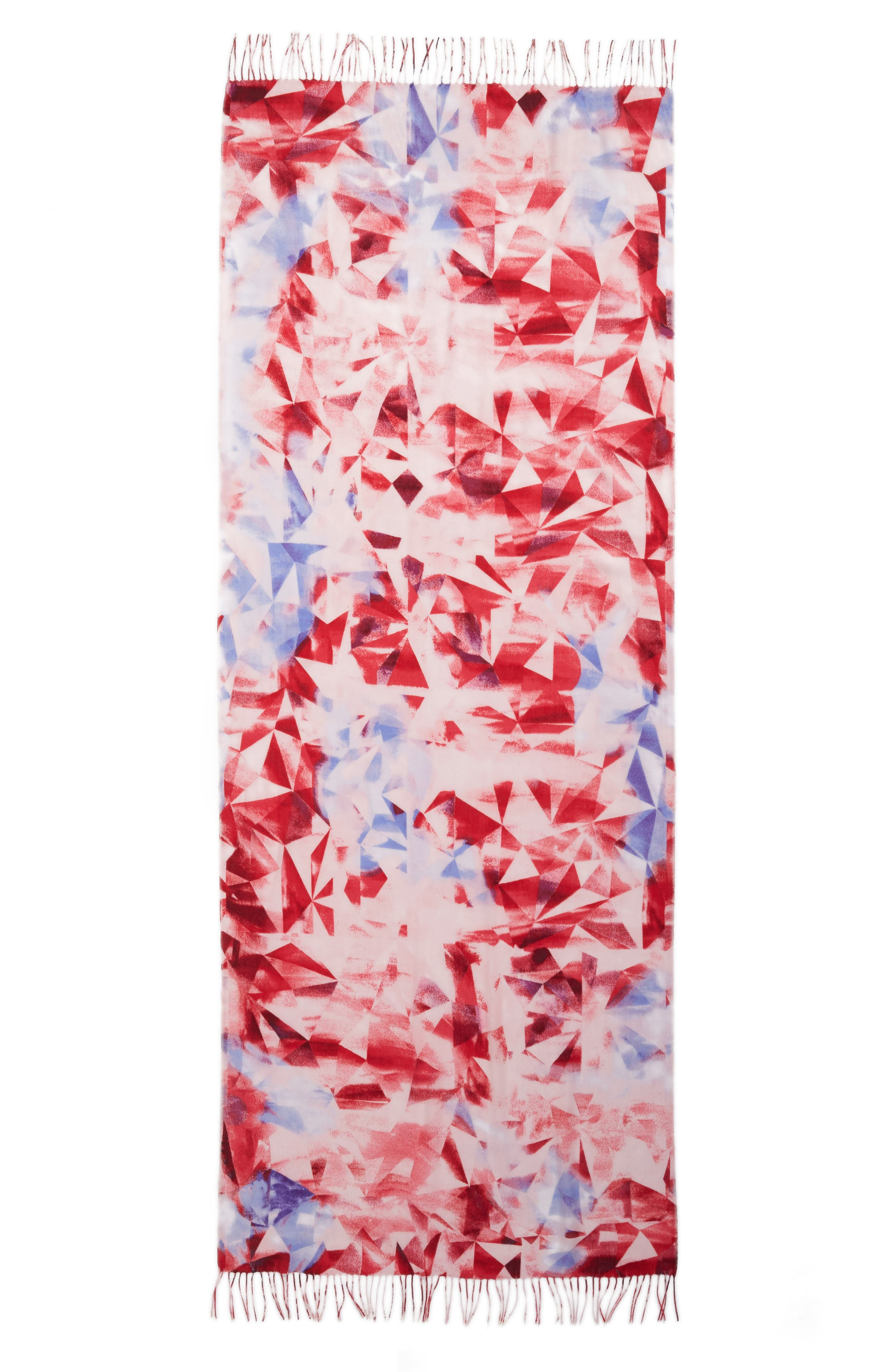 Tissue Print Wool & Cashmere Wrap Scarf,                             Alternate thumbnail 88, color,