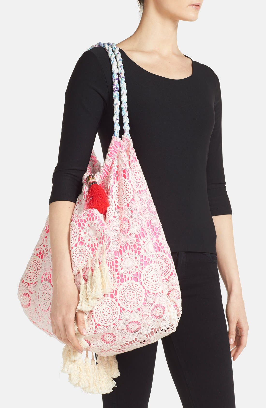 6 SHORE ROAD BY POOJA,                             'Sunset' Beach Bag,                             Alternate thumbnail 2, color,                             650