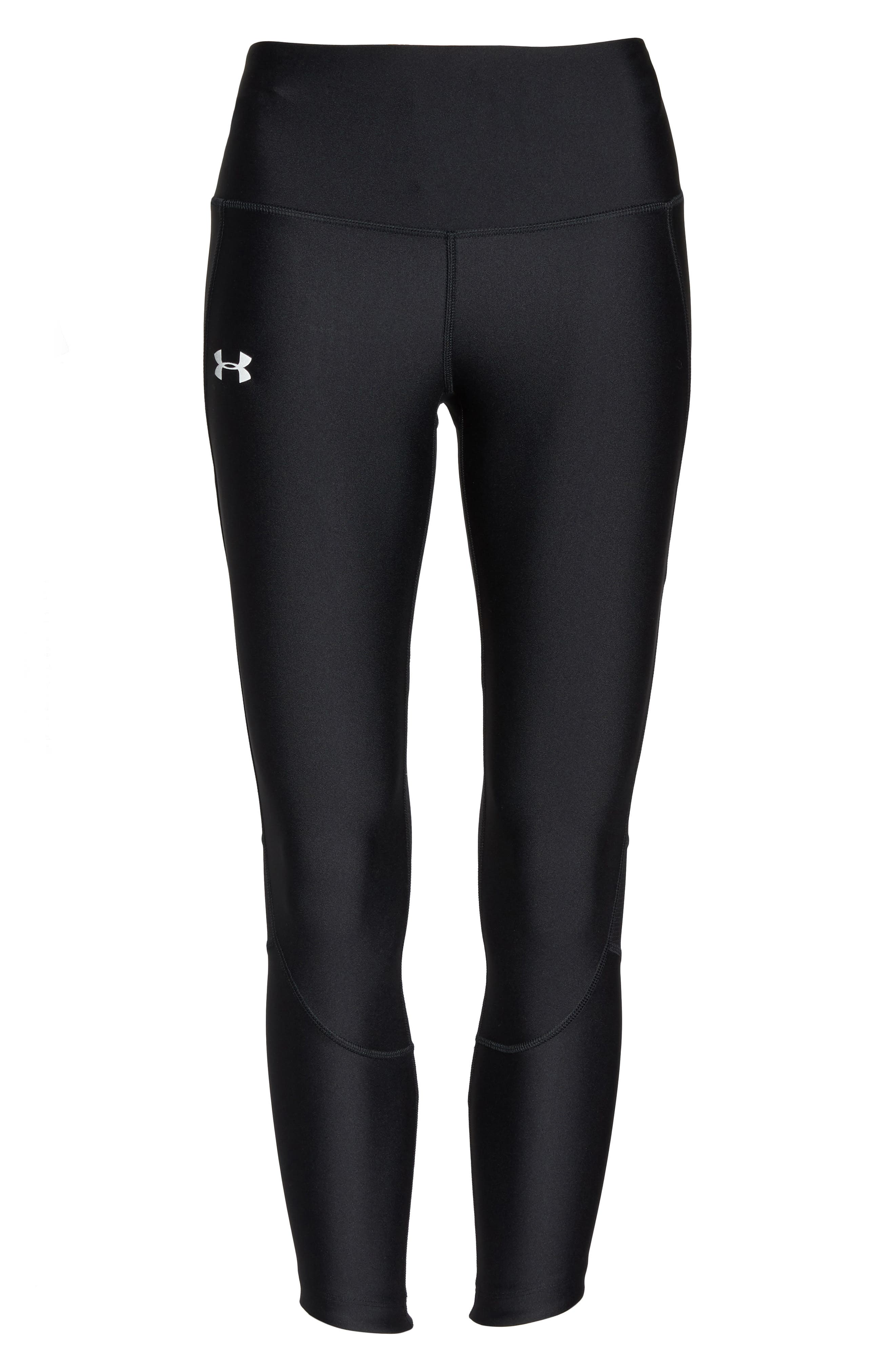Fly Fast HeatGear<sup>®</sup> Crop Leggings,                             Alternate thumbnail 7, color,                             BLACK