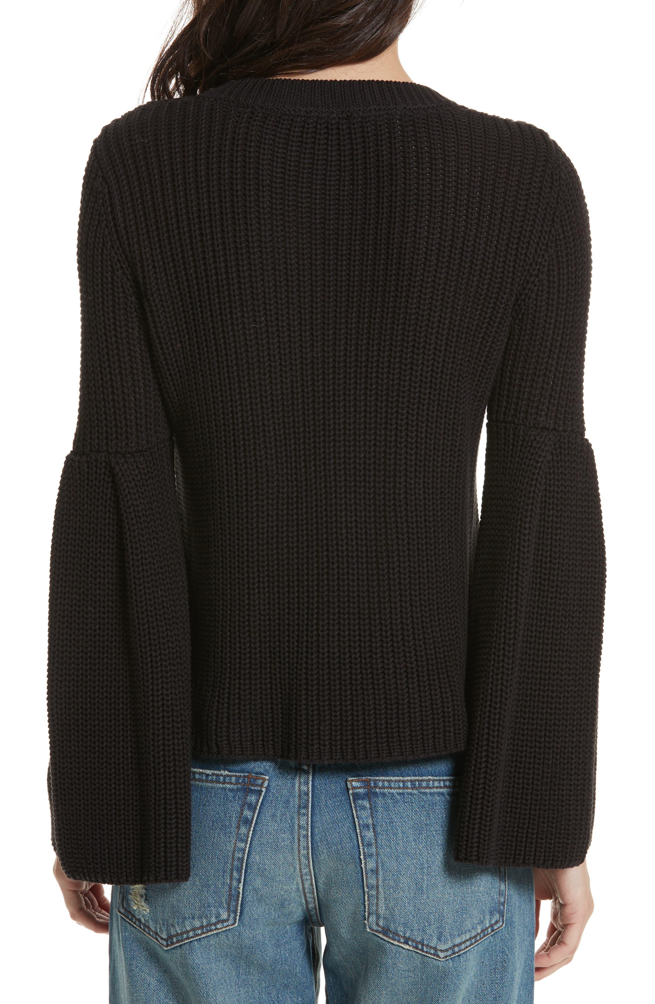 Damsel Bell Sleeve Pullover,                             Alternate thumbnail 2, color,                             001