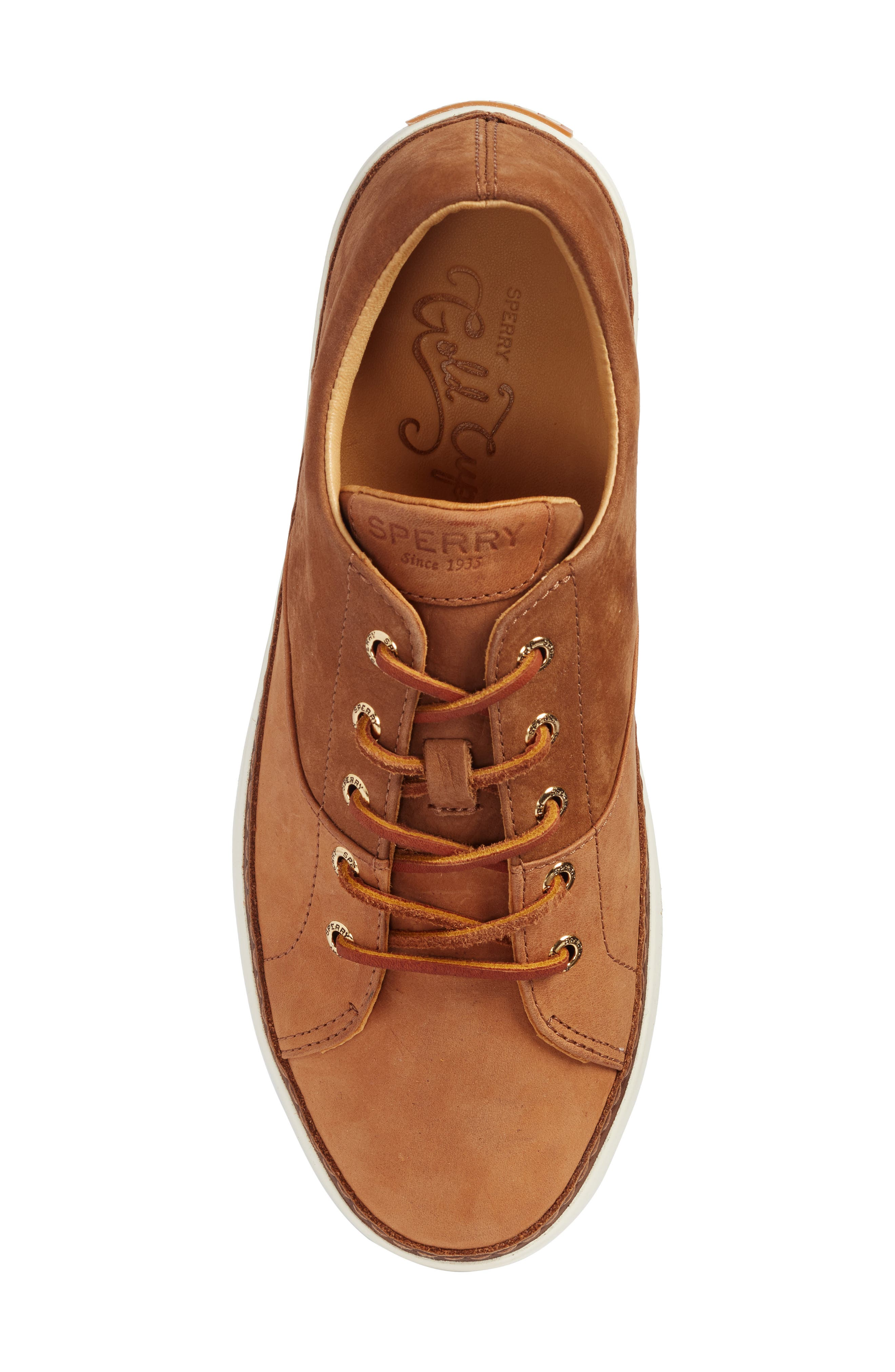 Gold Cup Haven Sneaker,                             Alternate thumbnail 5, color,                             TAN LEATHER