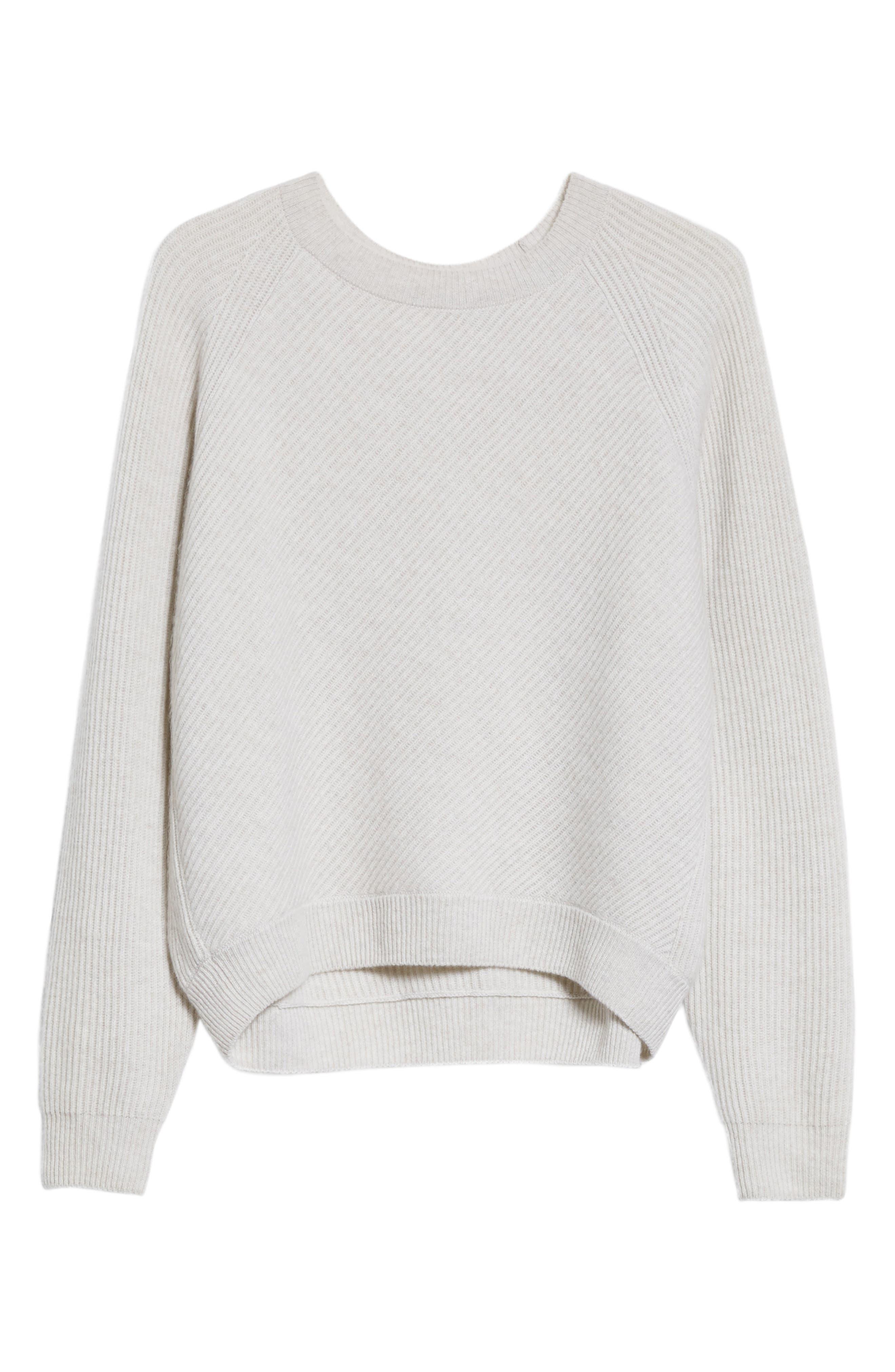 Diagonal Rib Wool & Cashmere Sweater,                             Alternate thumbnail 17, color,