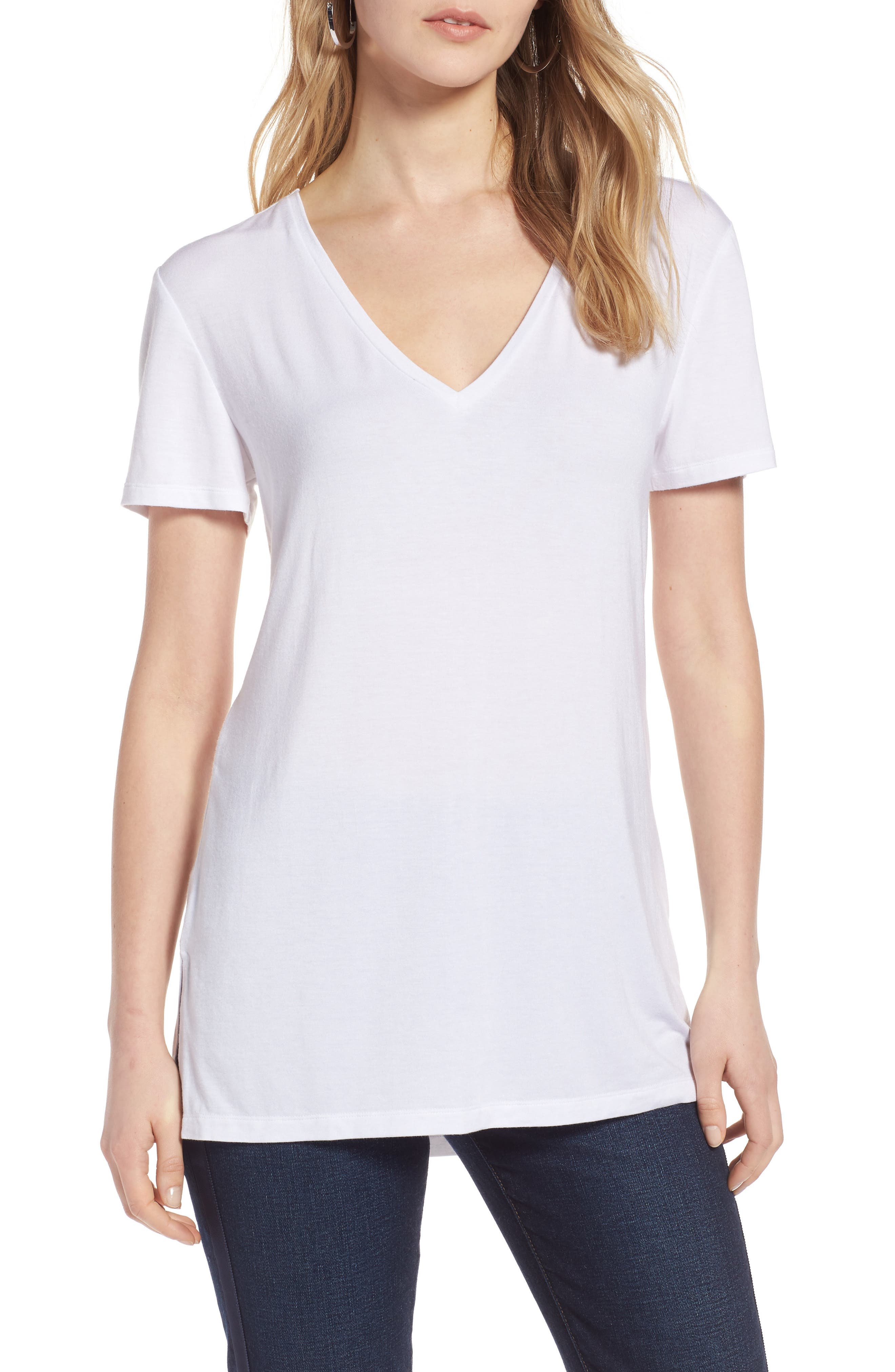 V-Neck Tunic Tee,                             Main thumbnail 8, color,