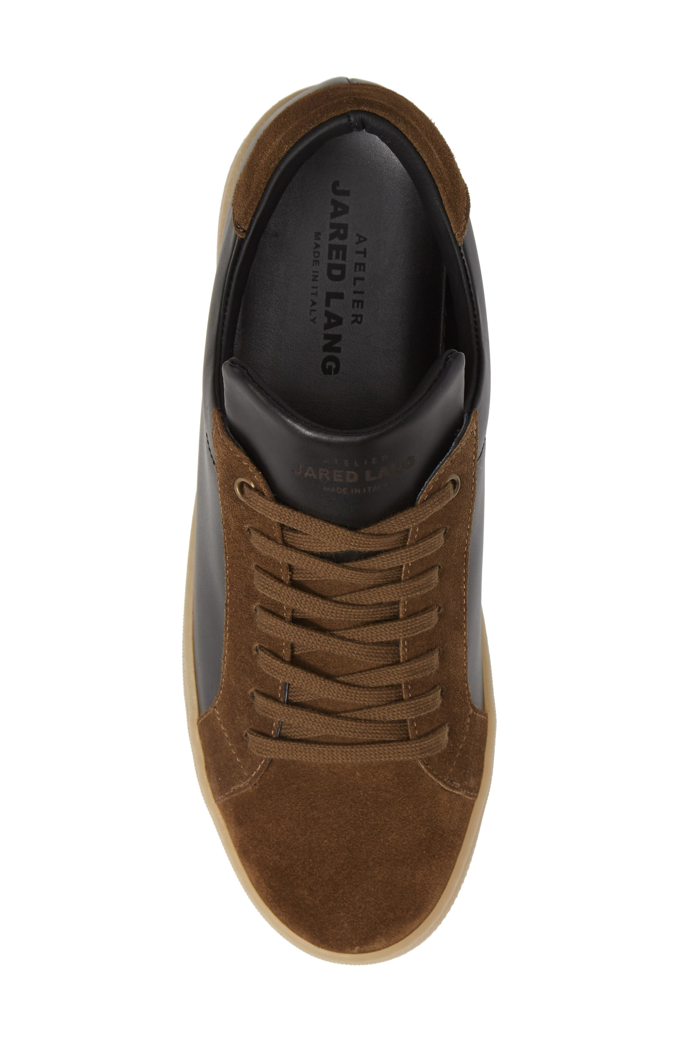 Rome Sneaker,                             Alternate thumbnail 5, color,                             BLACK/ GEIGE