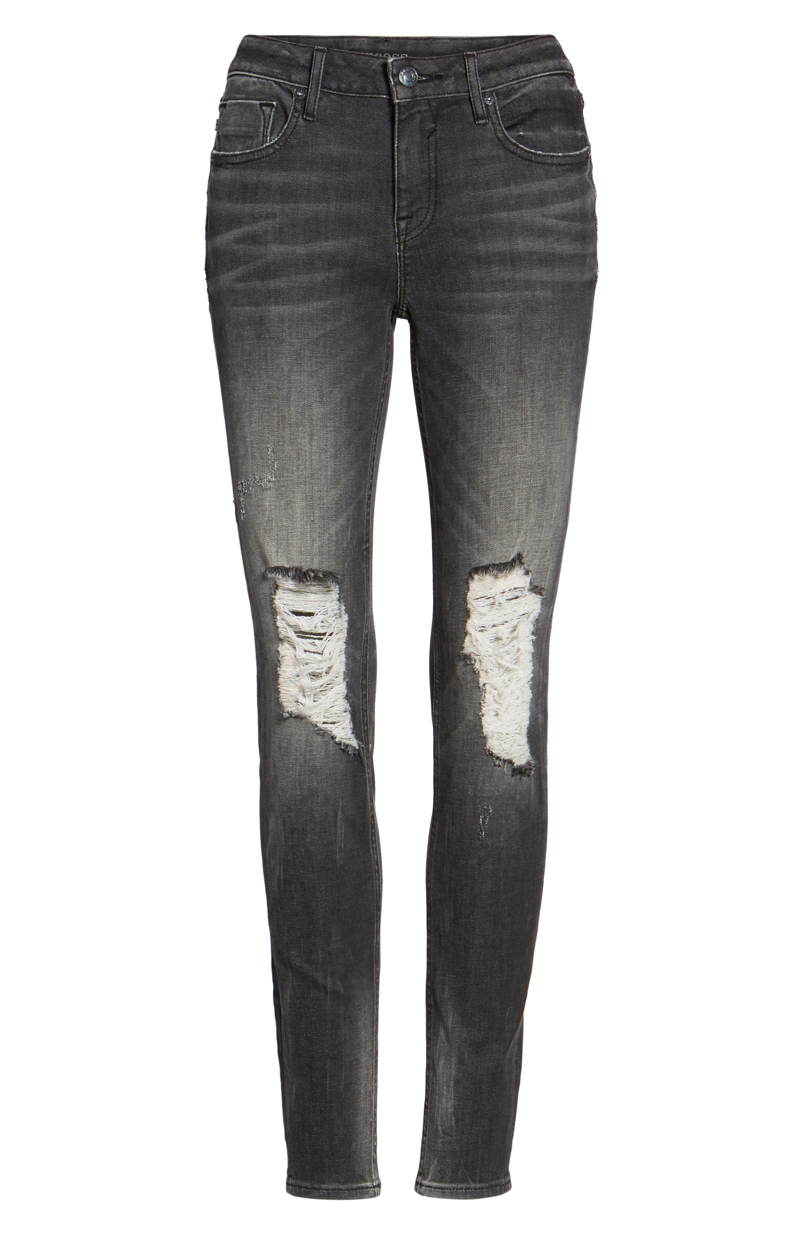 Jagger Ripped Skinny Jeans,                             Alternate thumbnail 6, color,                             020