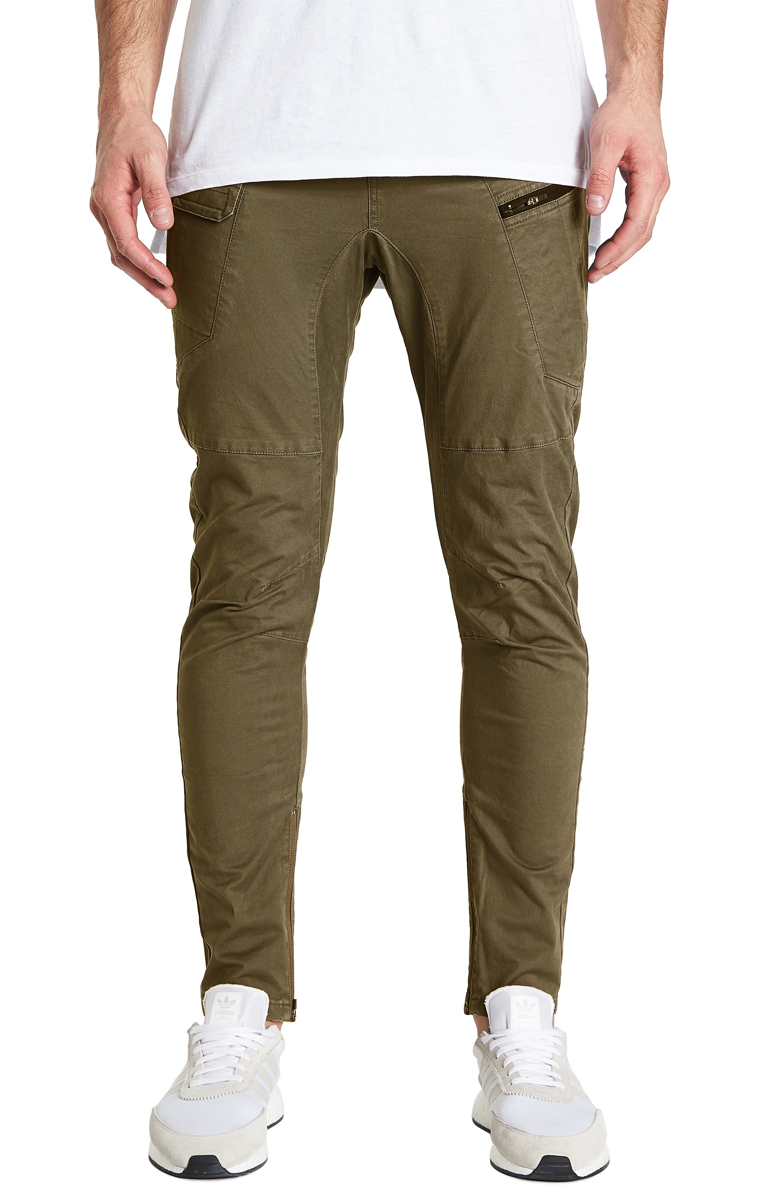 Tactical Slim Fit Pants,                         Main,                         color, IVY GREEN