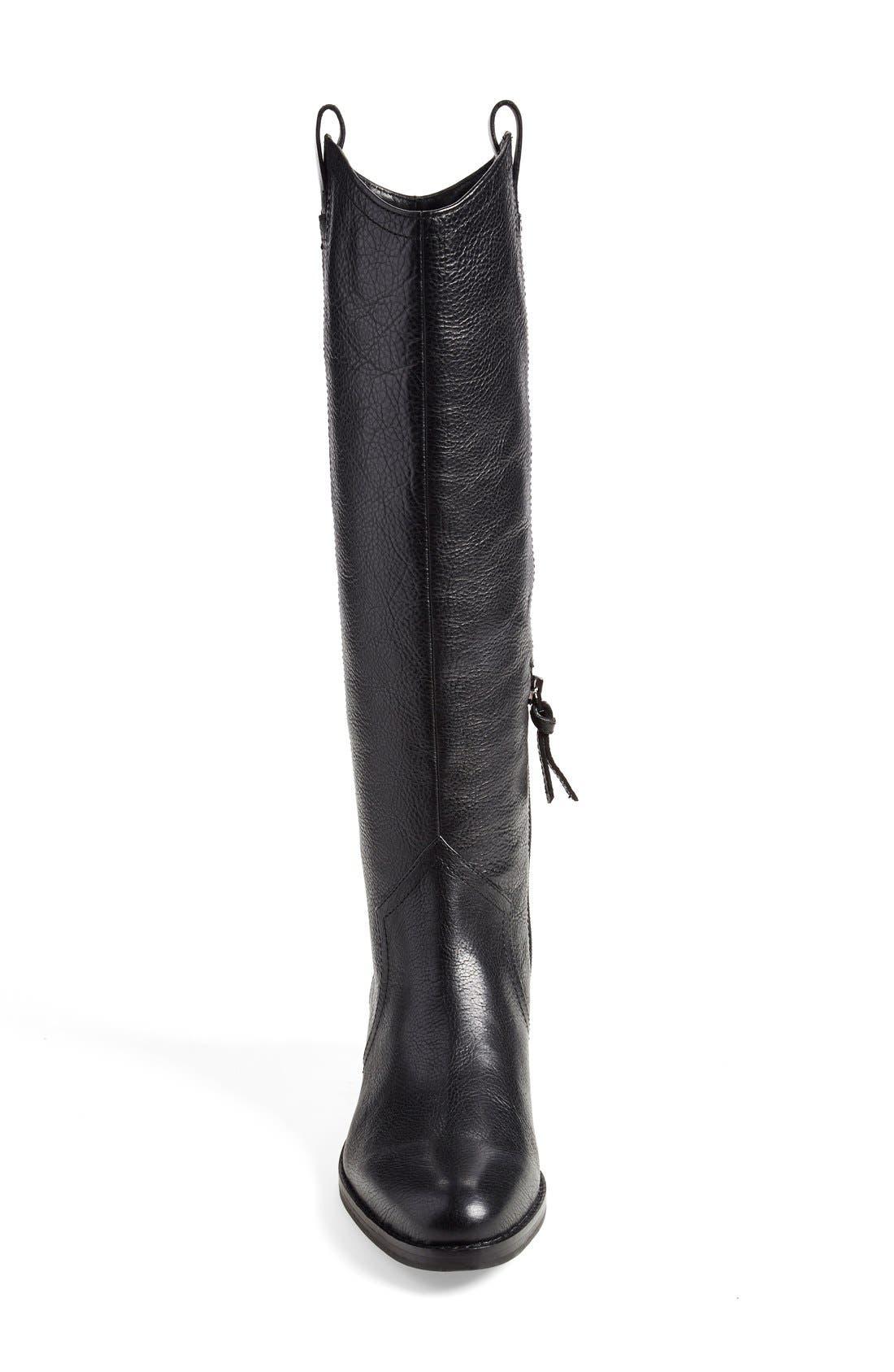 'Zada' Knee High Riding Boot,                             Alternate thumbnail 3, color,                             001