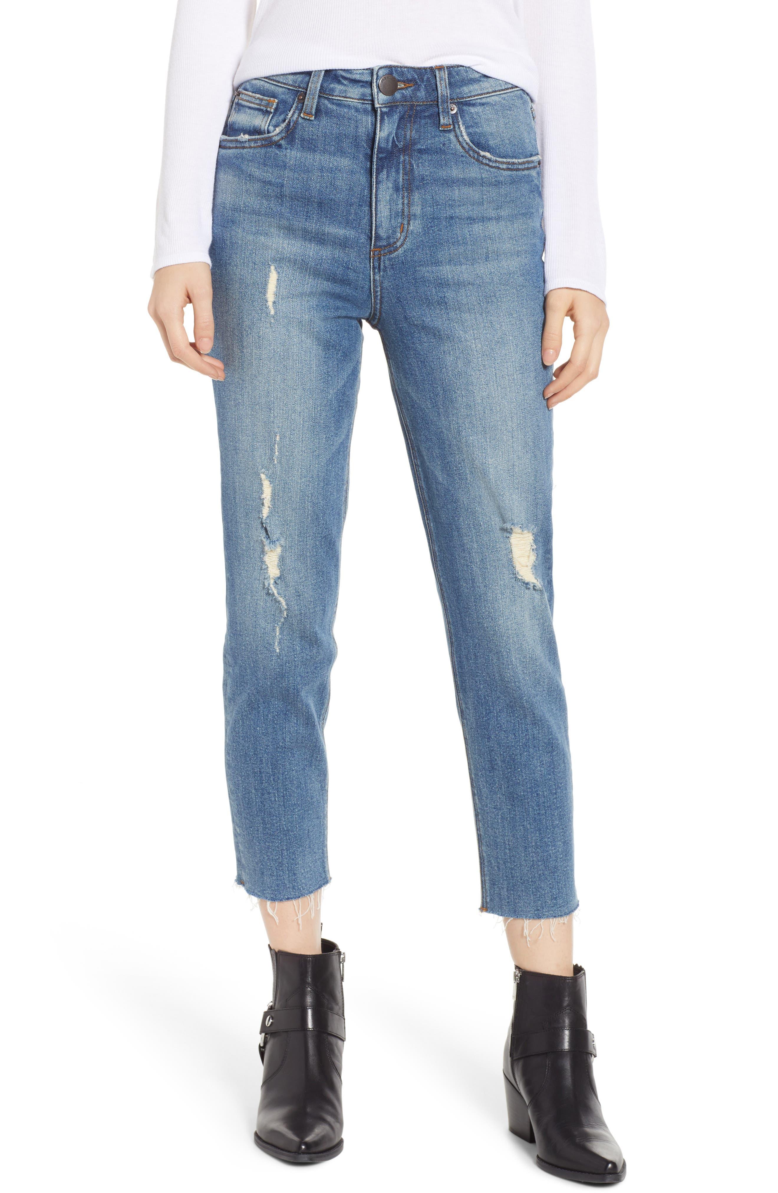 SWAT FAME STS Blue Alicia Crop Mom Jeans, Main, color, LEMONWOOD