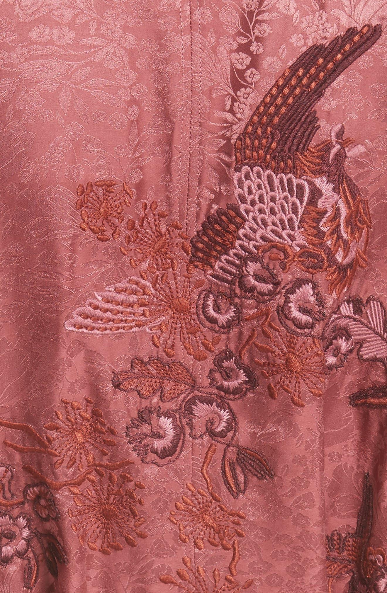 Tracey Jacquard Robe,                             Alternate thumbnail 5, color,                             607