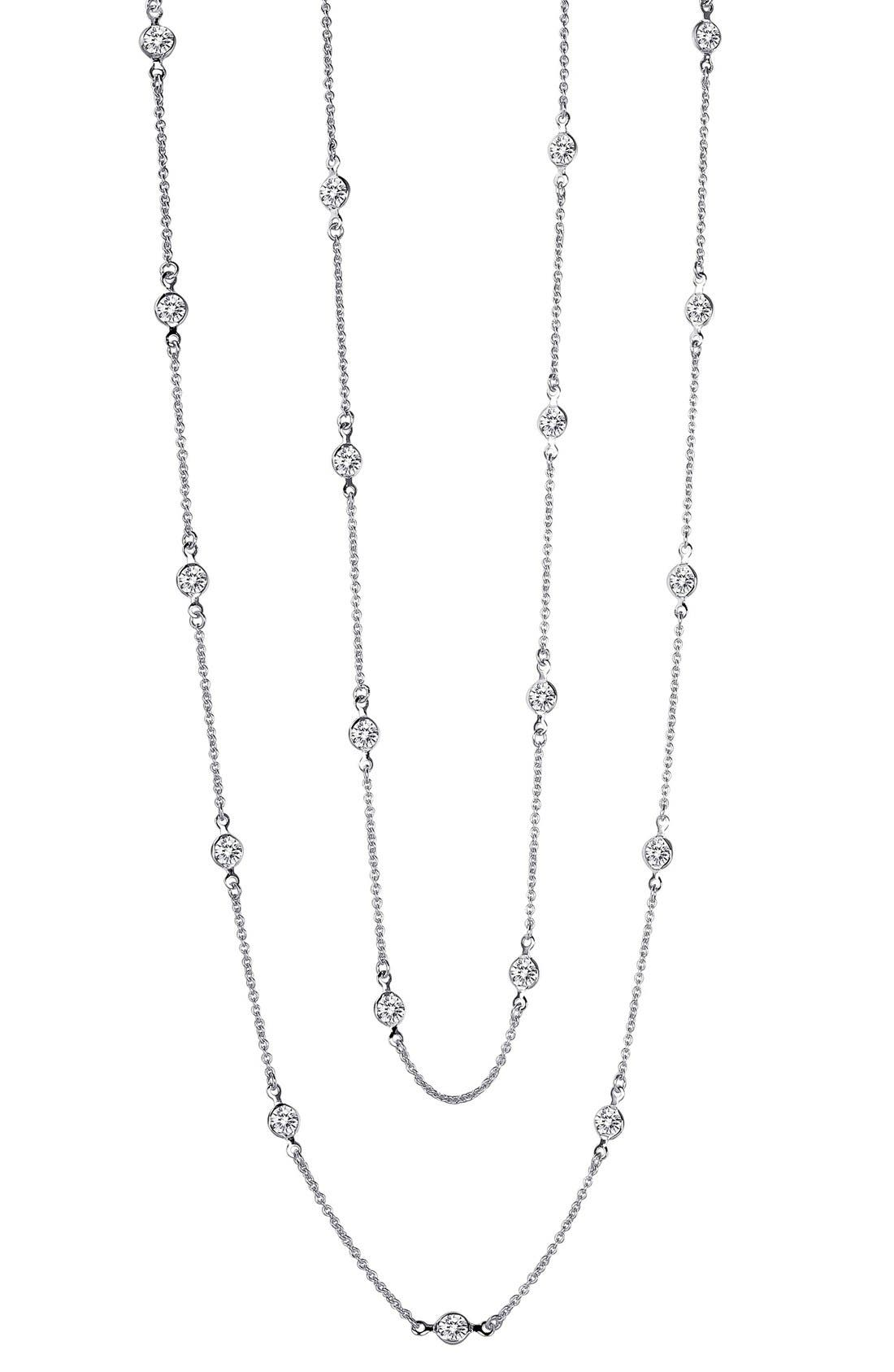 Station Necklace,                         Main,                         color, SILVER