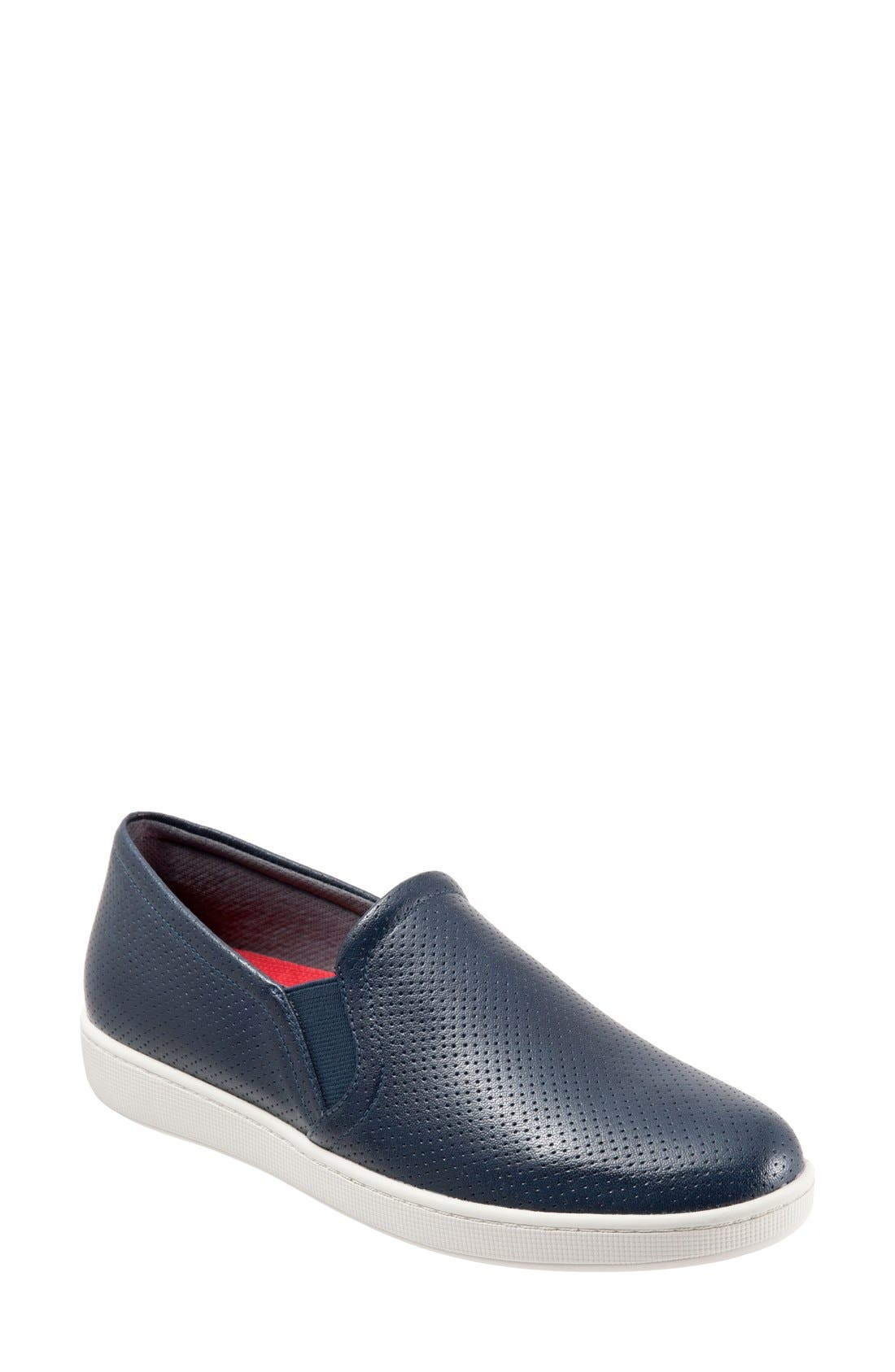 'Americana' Slip-On Sneaker,                             Main thumbnail 1, color,                             NAVY PERFORATED