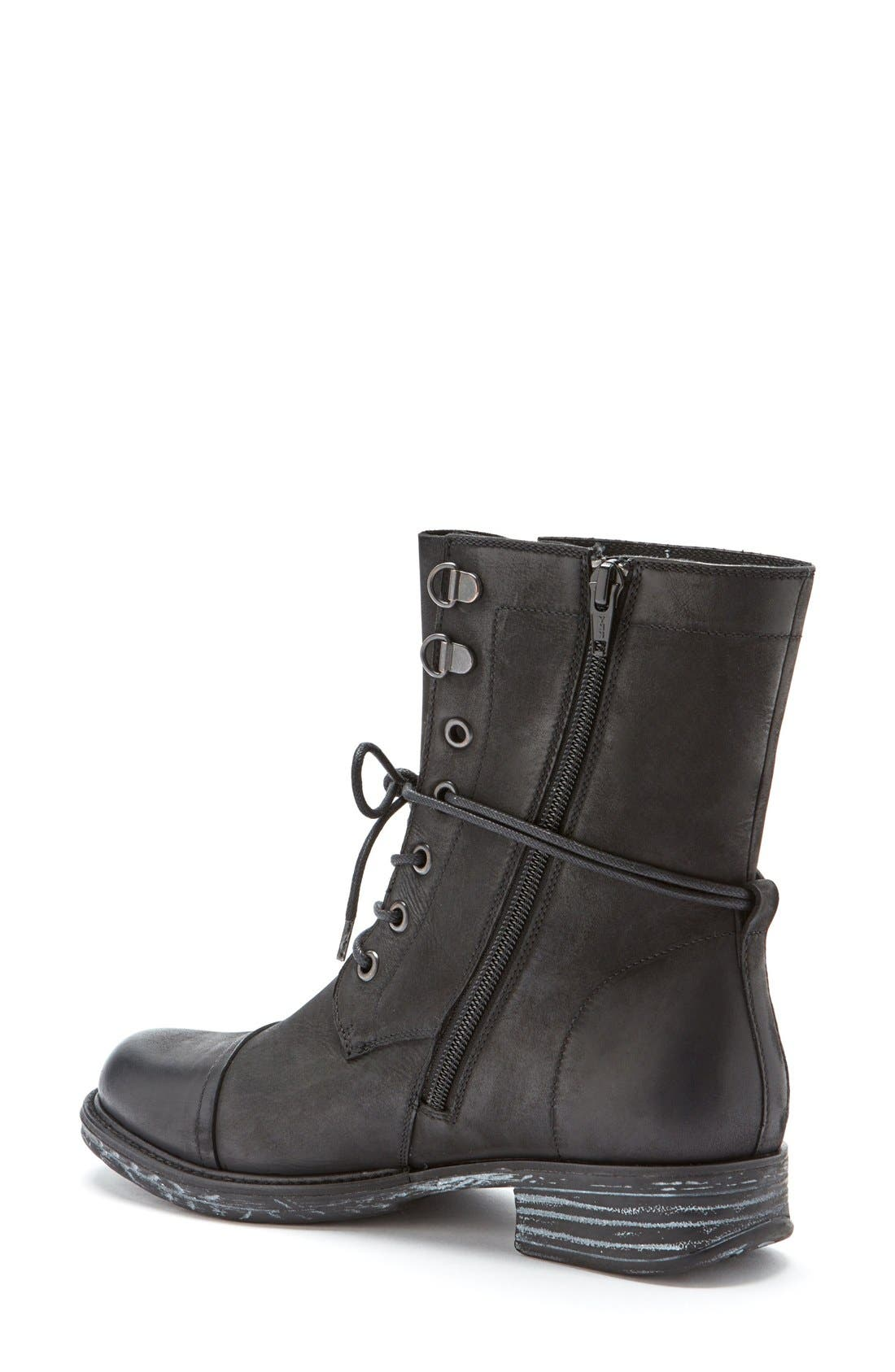 'Pyo' Waterproof Lace-Up Boot,                             Alternate thumbnail 2, color,                             001