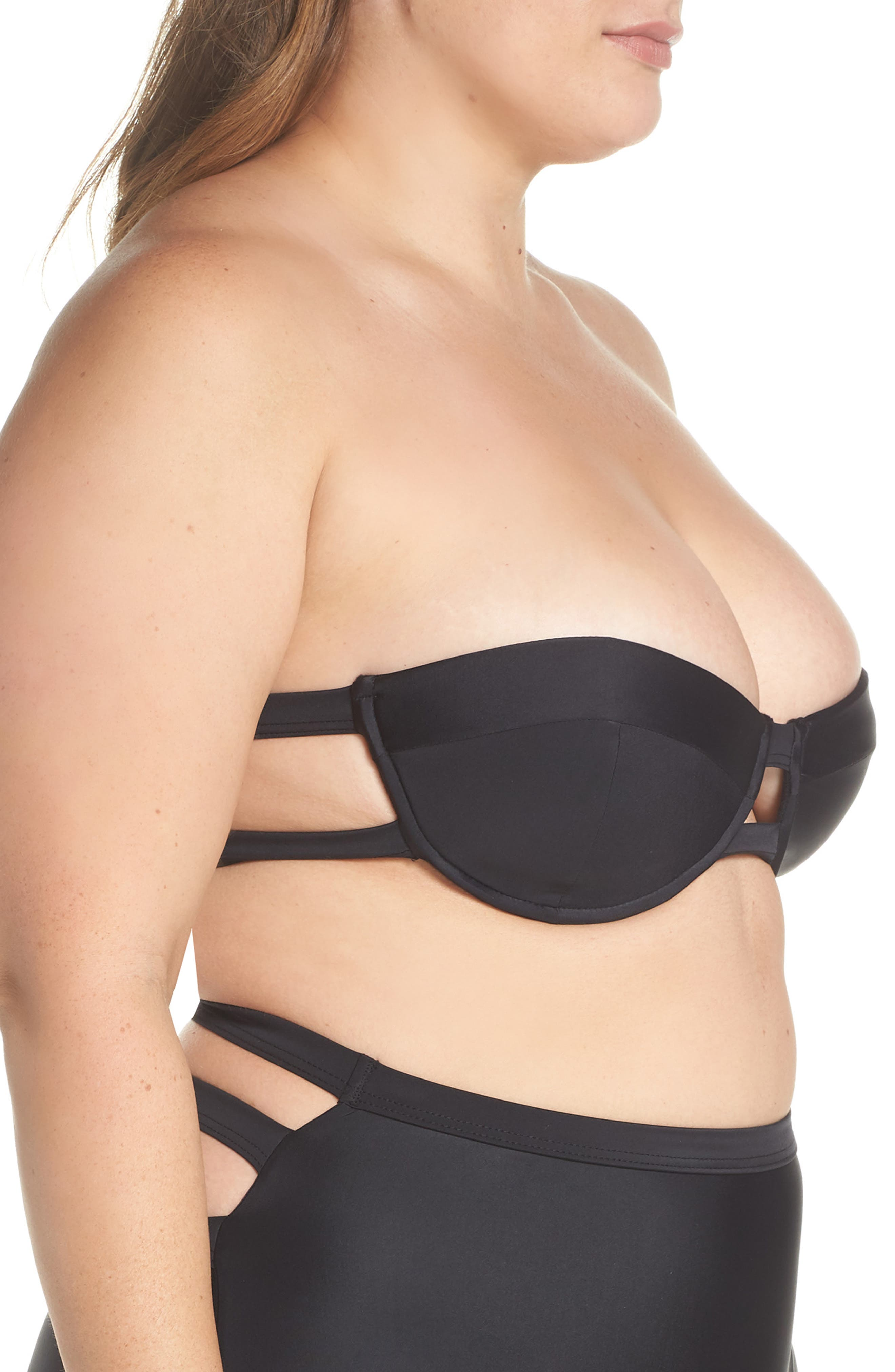 Bouloux II Underwire Bikini Top,                             Alternate thumbnail 4, color,                             001