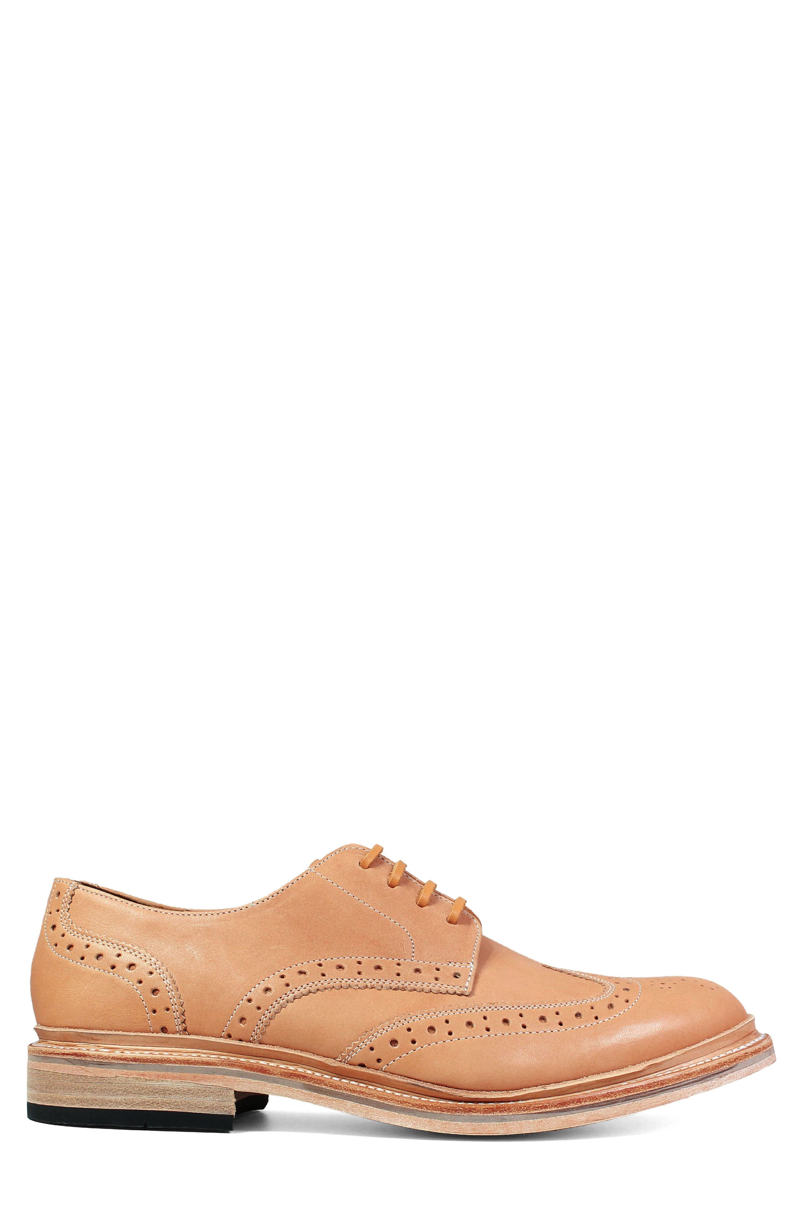 M2 Wingtip Derby,                             Alternate thumbnail 3, color,                             NATURAL LEATHER