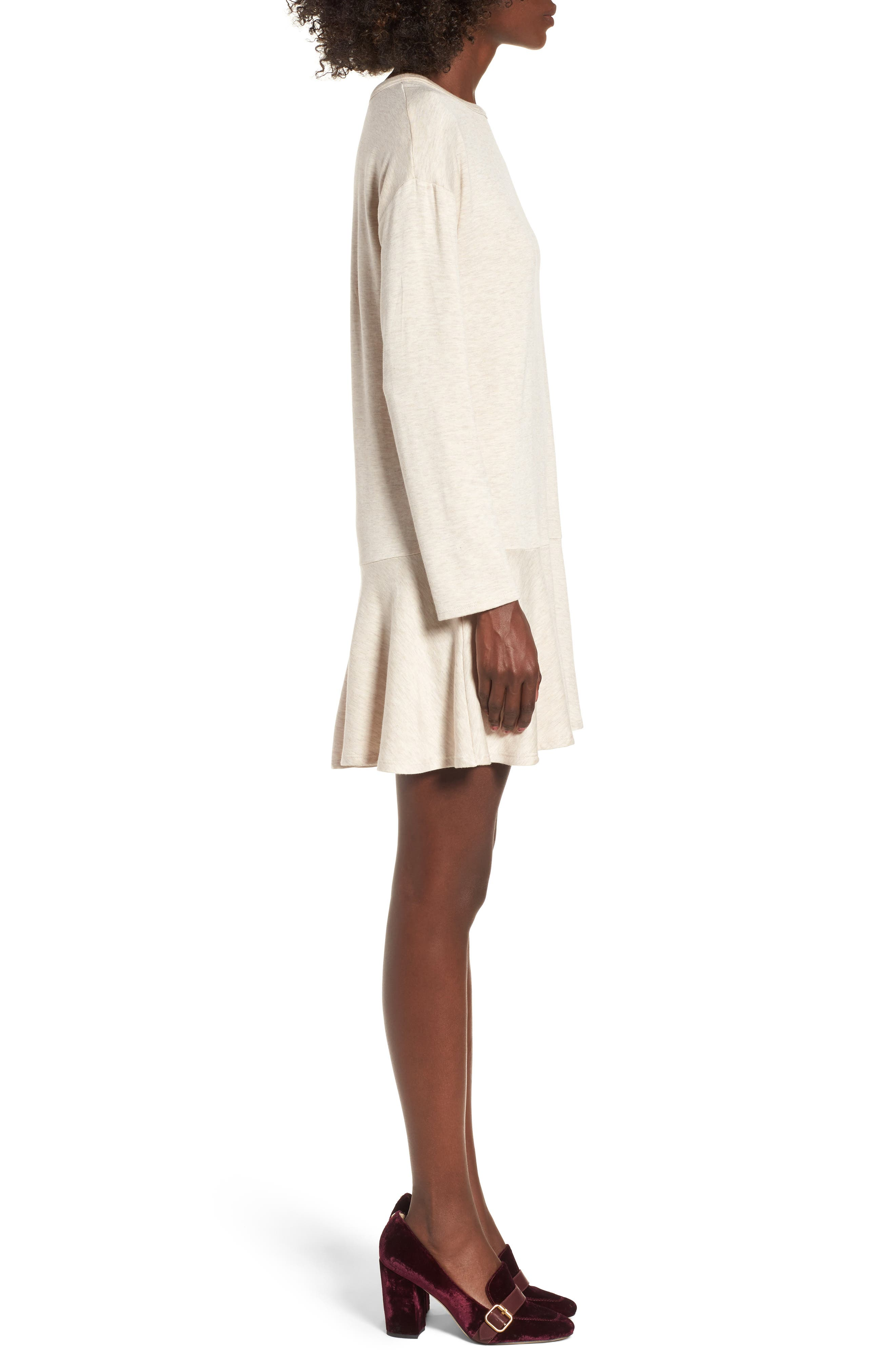 Drop Waist Sweatshirt Dress,                             Alternate thumbnail 9, color,