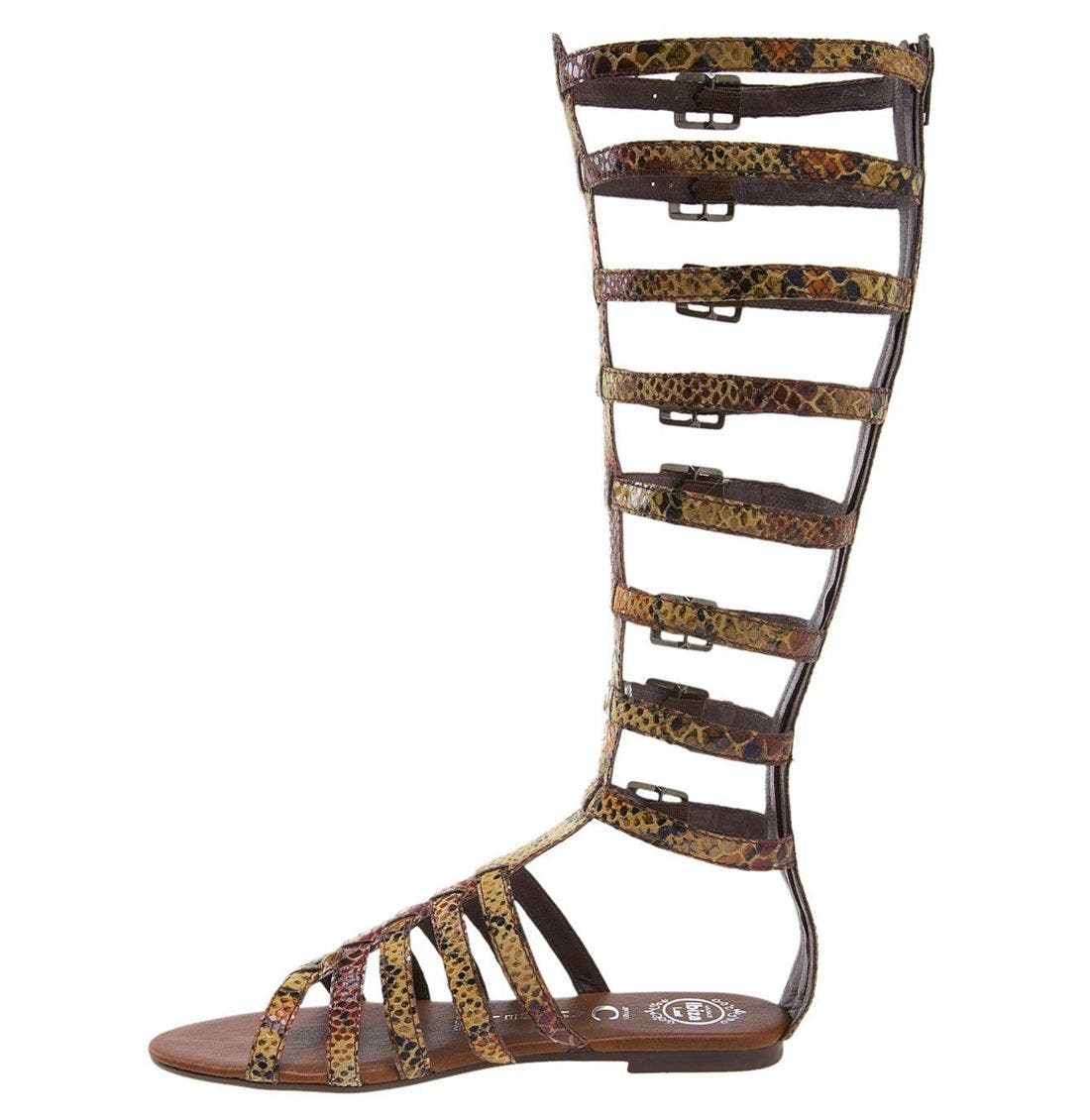 'Tip 2' Gladiator Sandal,                             Alternate thumbnail 4, color,                             200