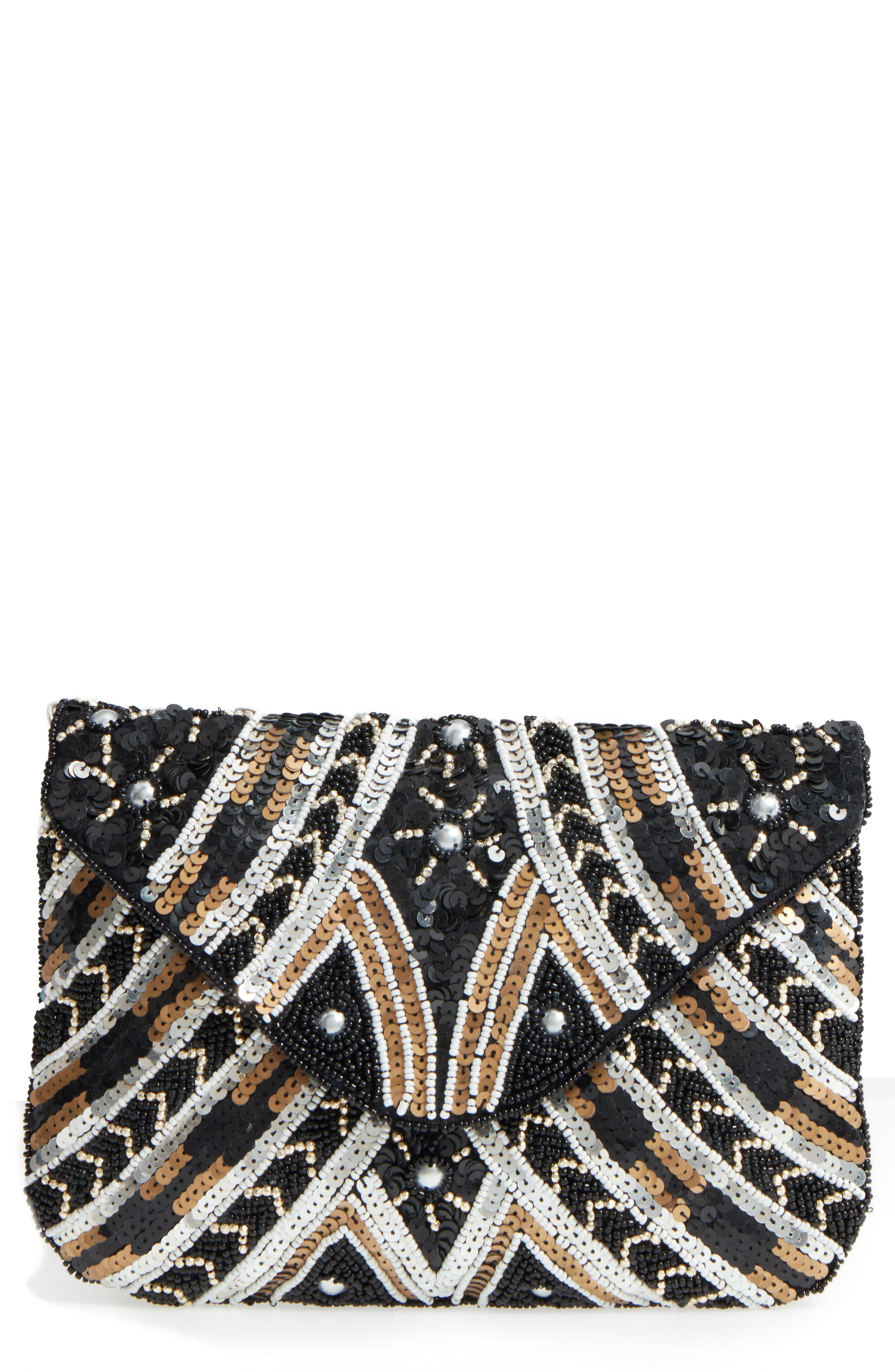 Beaded Clutch,                             Main thumbnail 1, color,                             001