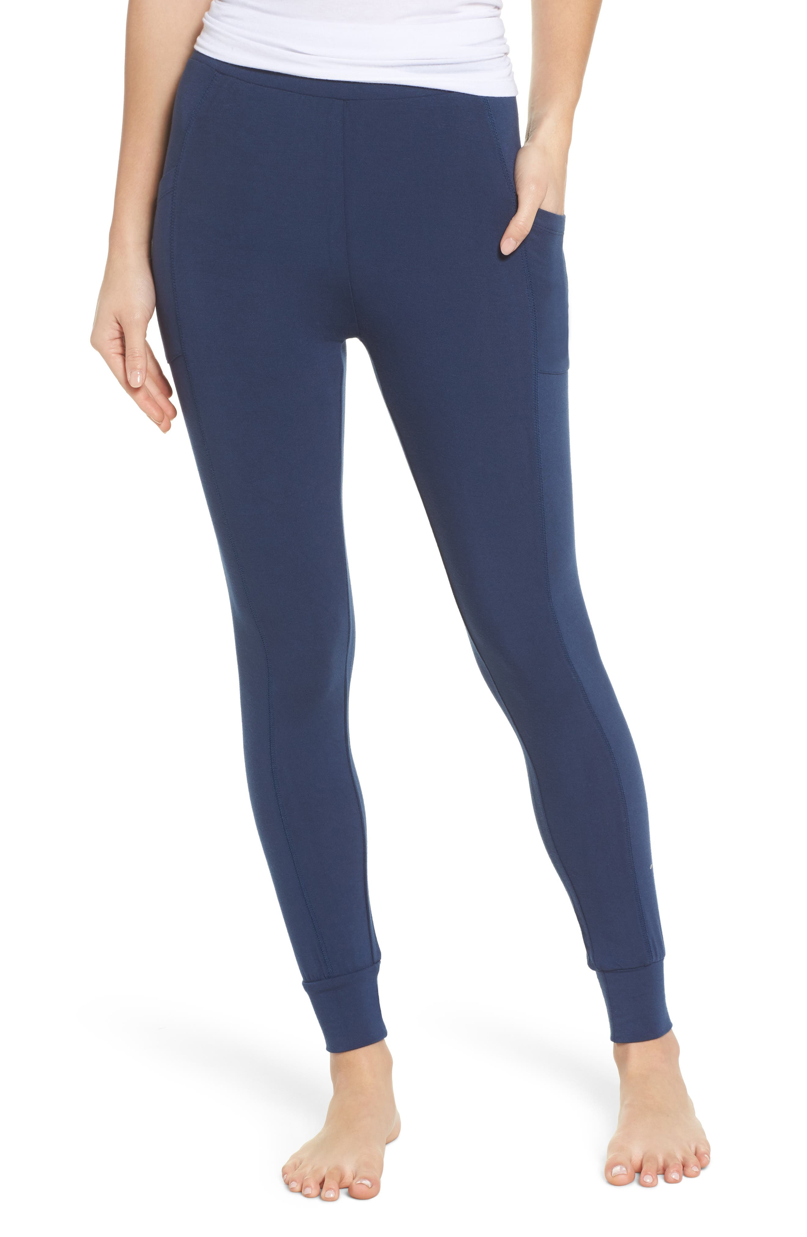 Kickin' It French Terry High Waist Lounge Leggings,                             Main thumbnail 1, color,                             400