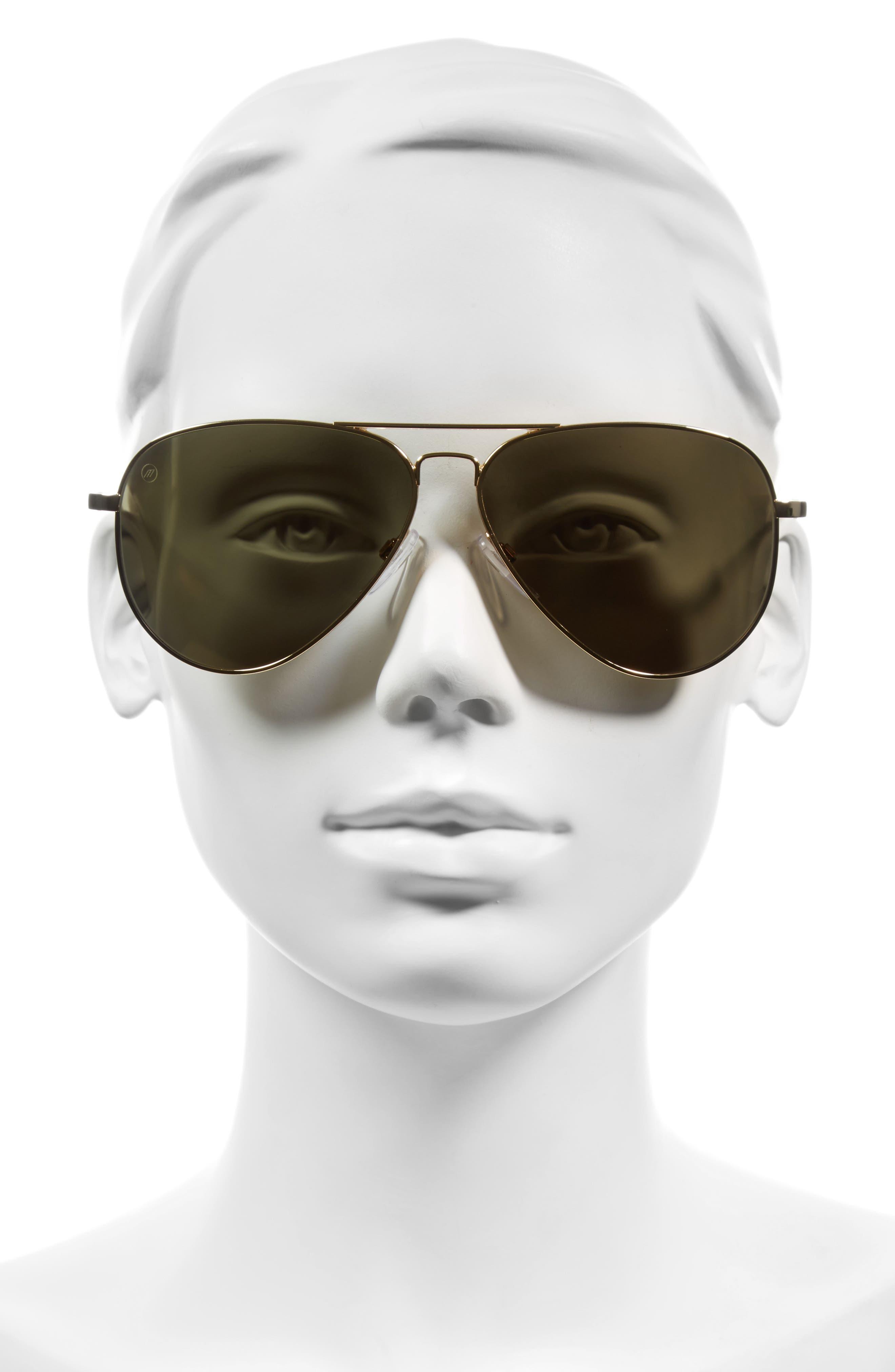 'AV1 XL' 62mm Aviator Sunglasses,                             Alternate thumbnail 7, color,