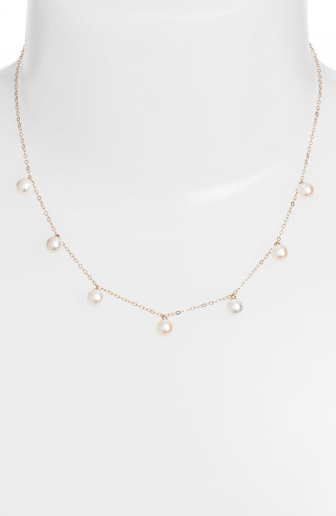 Pearl Collar Necklace,                             Main thumbnail 1, color,                             YELLOW GOLD/ PEARL
