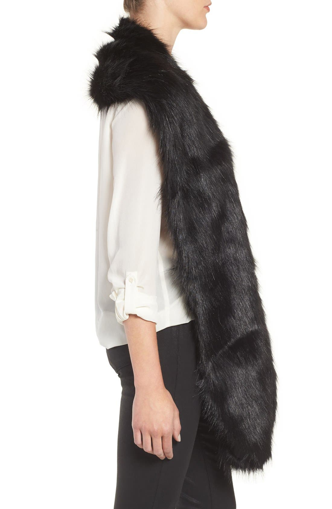 Faux Mink Stole,                             Alternate thumbnail 12, color,