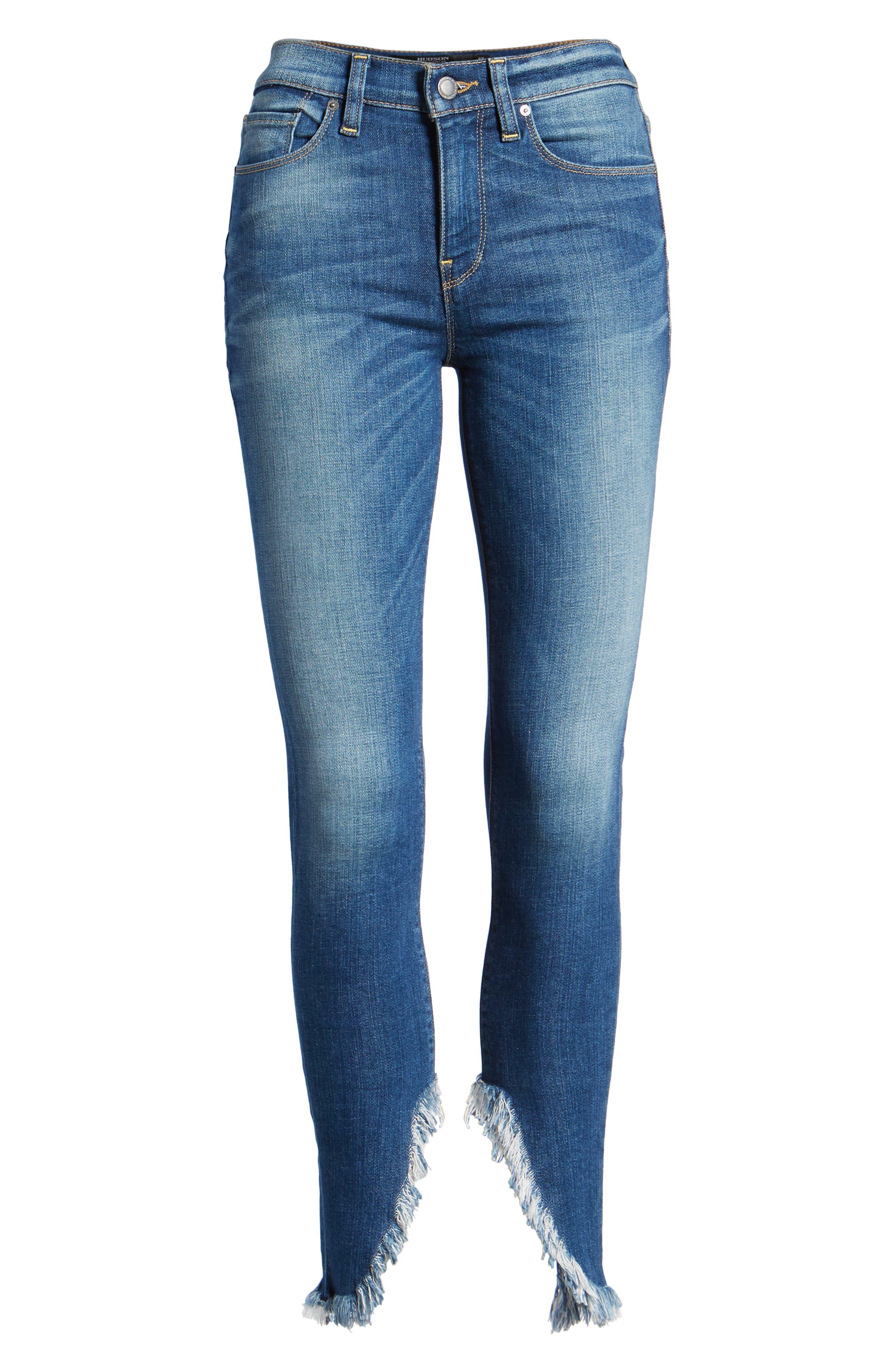 Nico Ankle Super Skinny Jeans,                             Alternate thumbnail 7, color,                             BLUE MONDAY