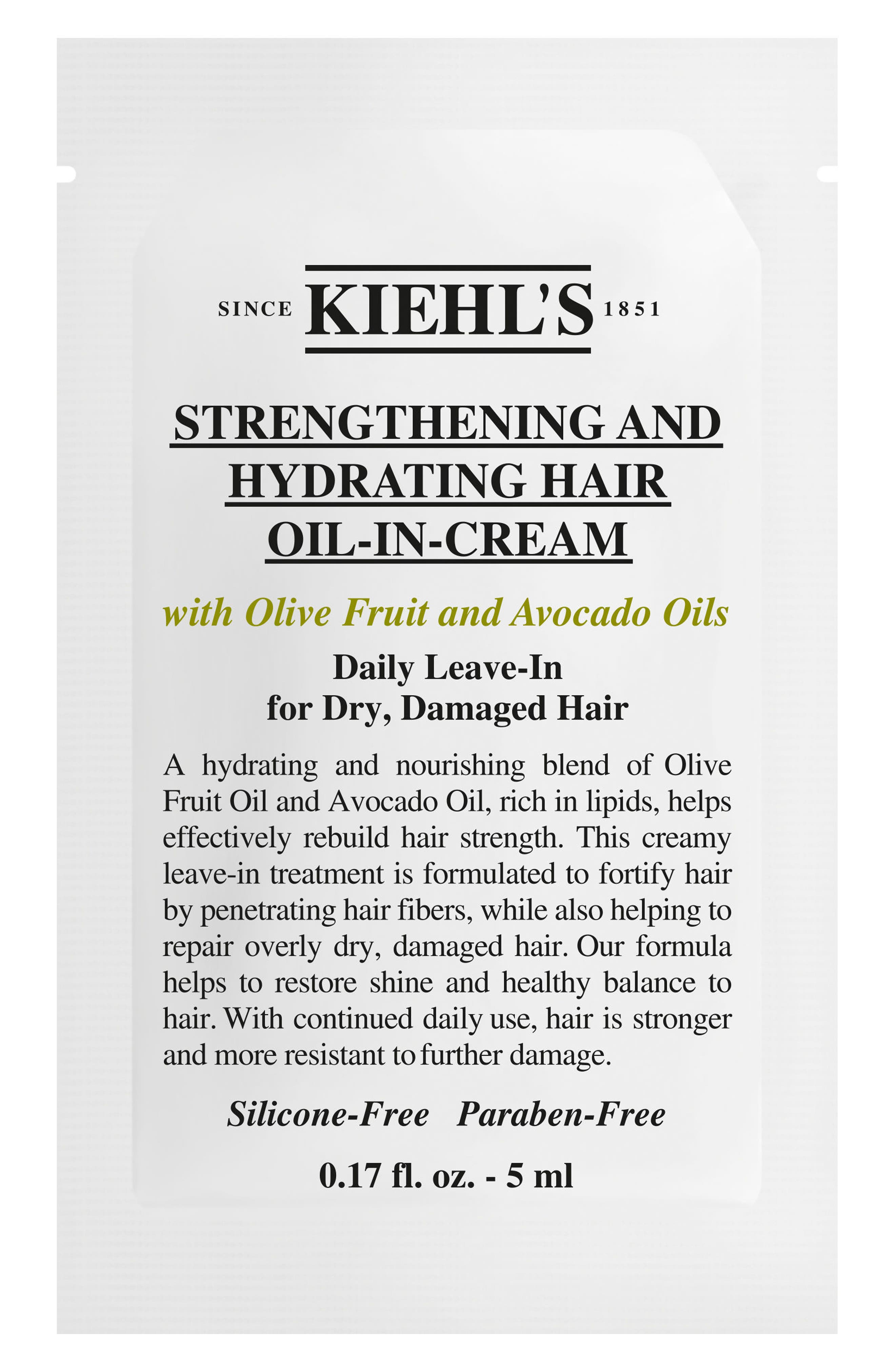 Olive Fruit Oil Strengthening and Hydrating Hair Oil-In-Cream,                             Alternate thumbnail 3, color,                             NO COLOR