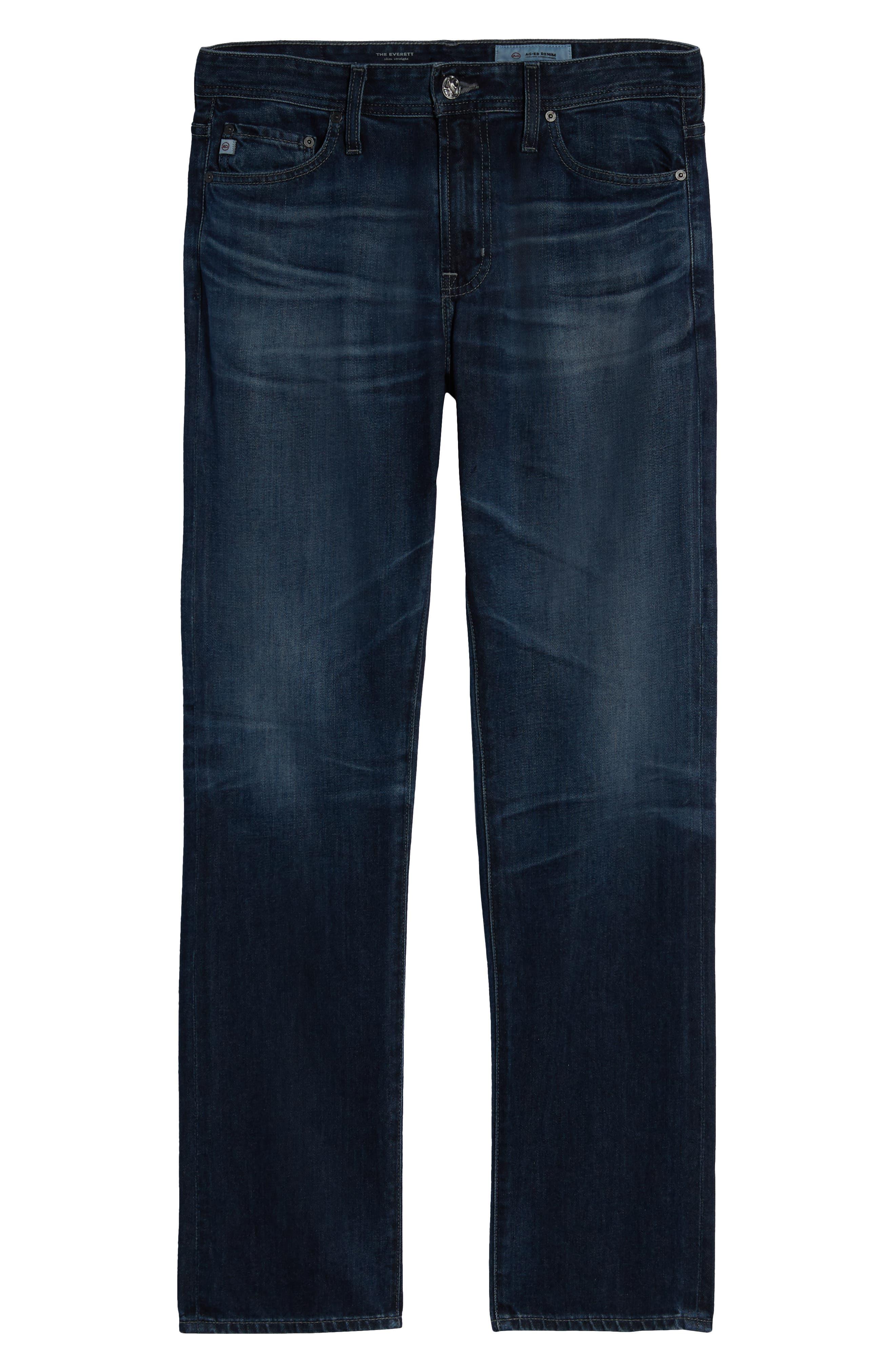 Everett Slim Straight Leg Jeans,                             Alternate thumbnail 6, color,                             7 YEARS PARK AVEUNE
