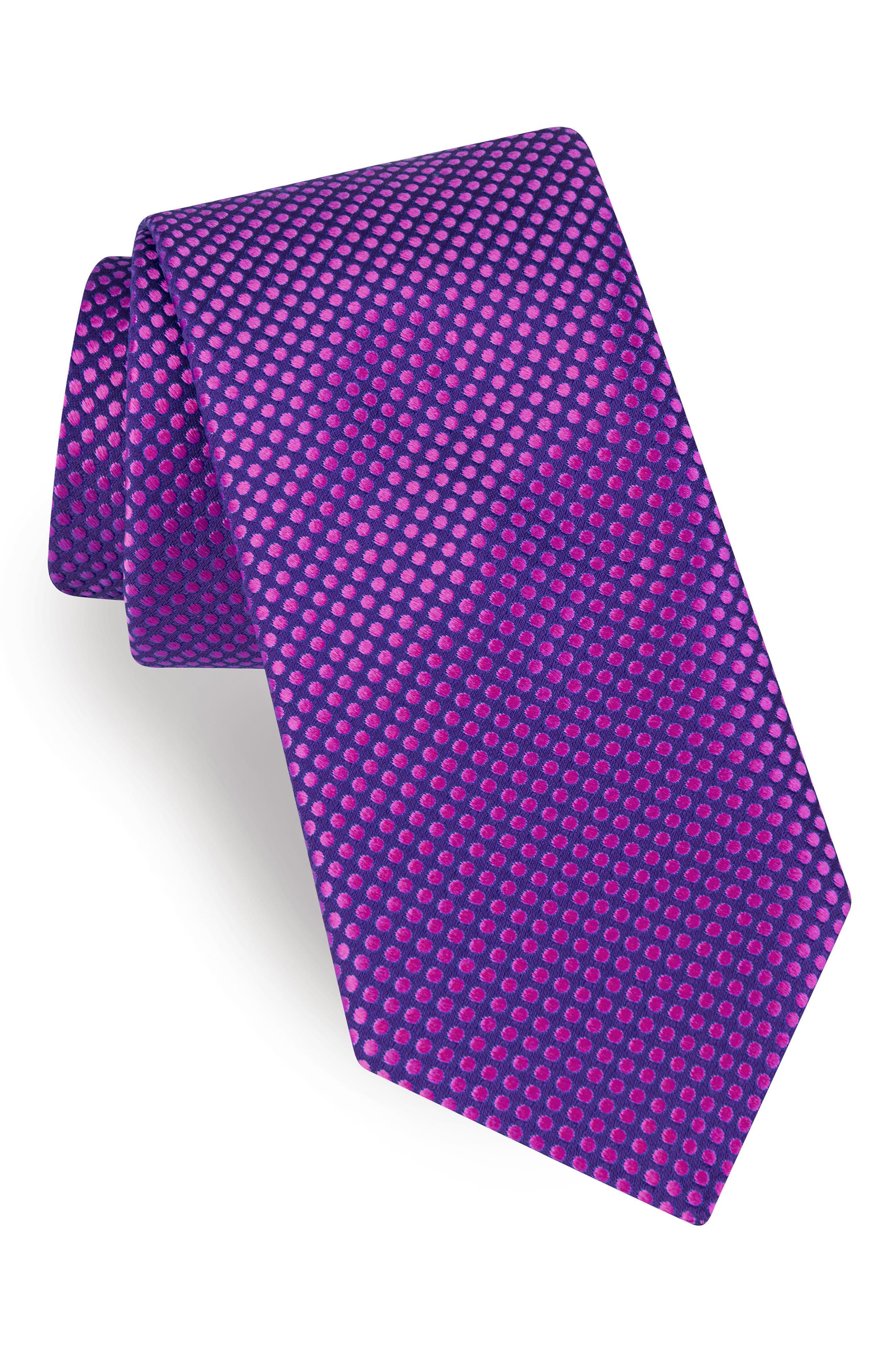 Dot Silk Tie,                             Main thumbnail 5, color,