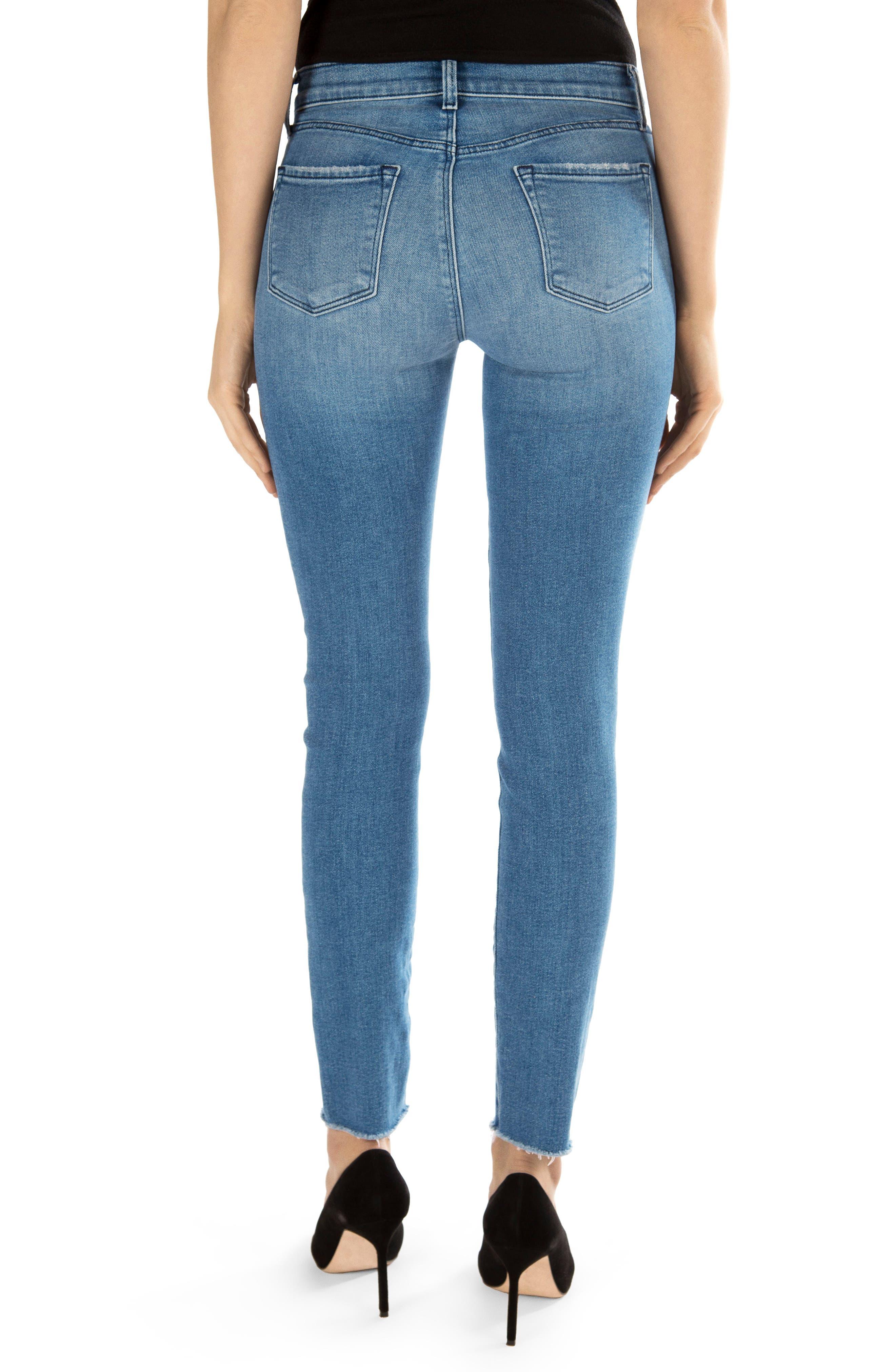 811 Raw Hem Ankle Skinny Jeans,                             Alternate thumbnail 2, color,                             457