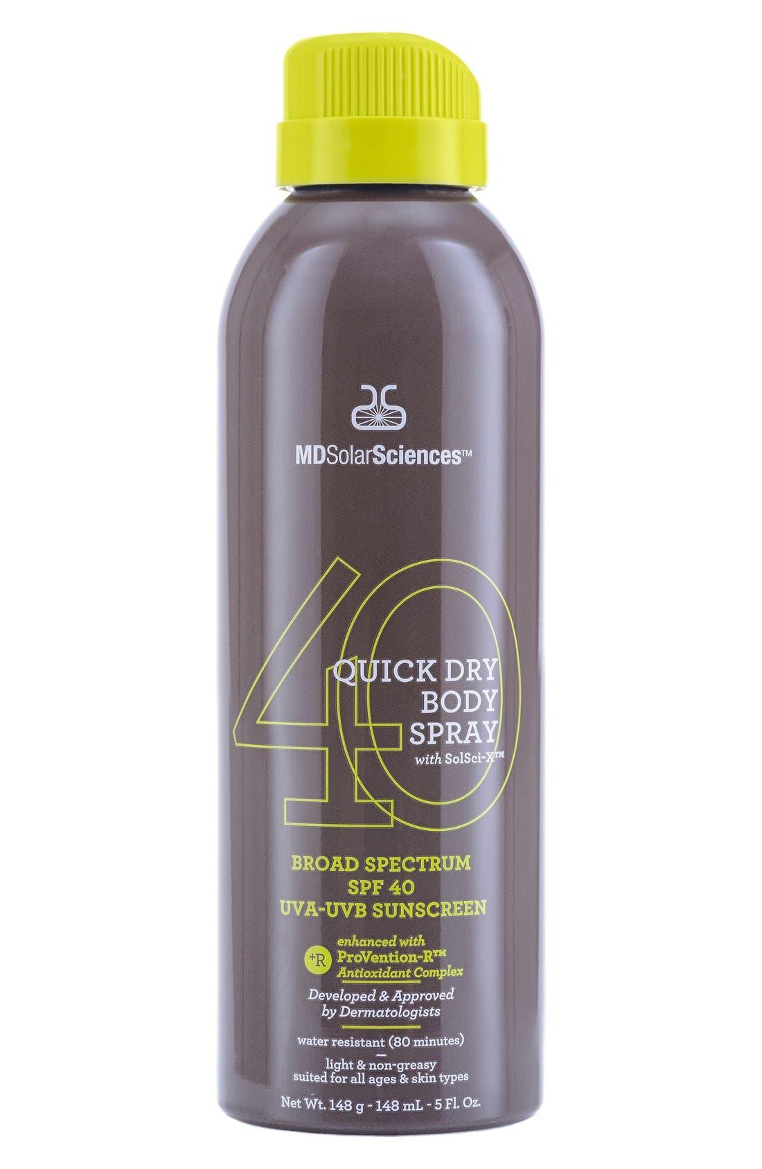 Quick Dry Body Spray Broad Spectrum SPF 40 Sunscreen,                         Main,                         color, 000
