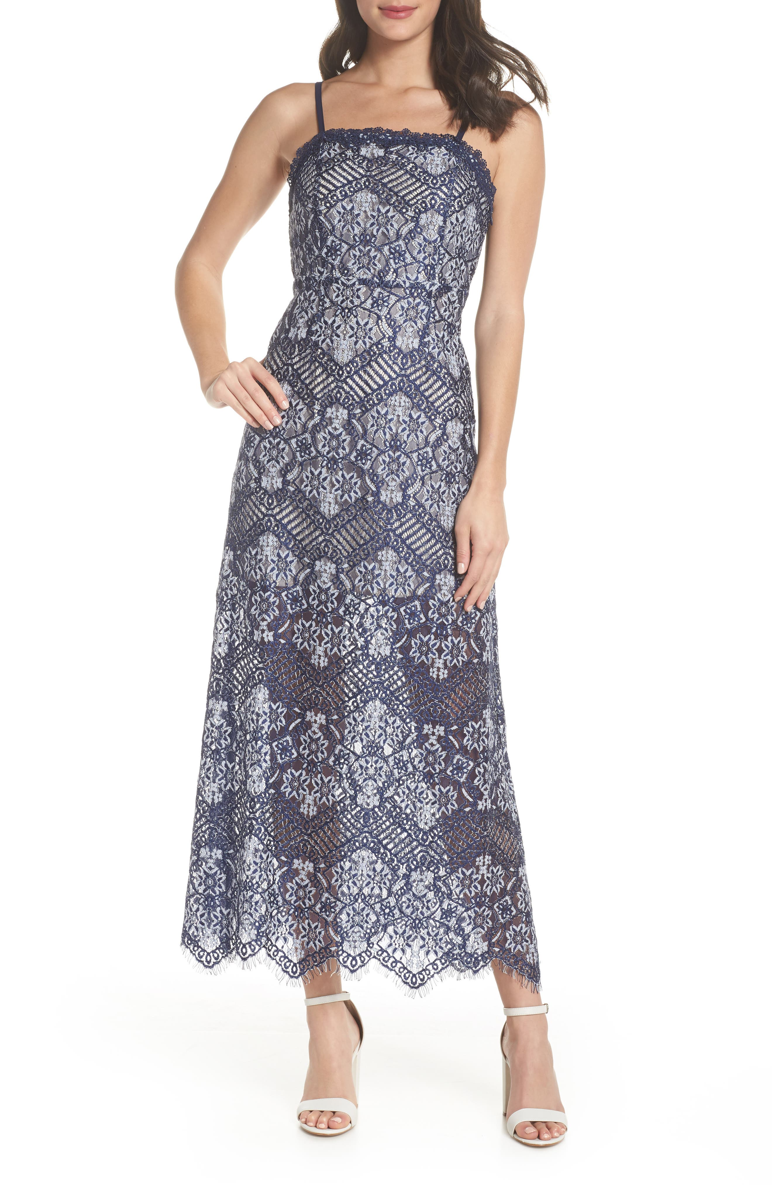 Daleyza Open Back Lace Gown,                             Main thumbnail 1, color,                             410