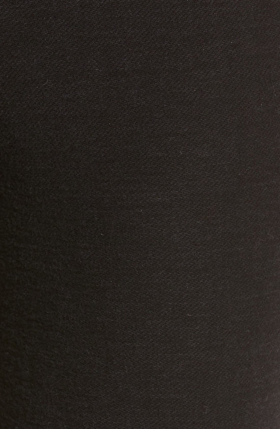 Denim Knit Skinny Jeans,                             Alternate thumbnail 4, color,                             002