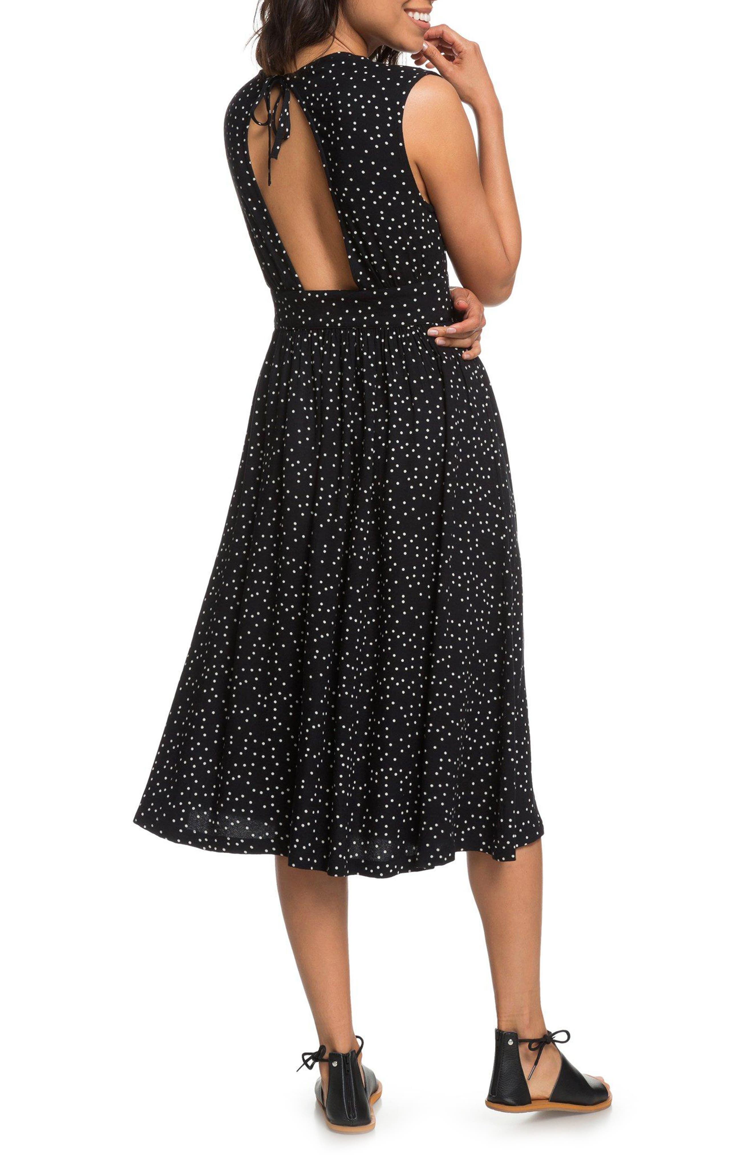 Retro Poetic Polka Dot Dress,                             Alternate thumbnail 2, color,                             001