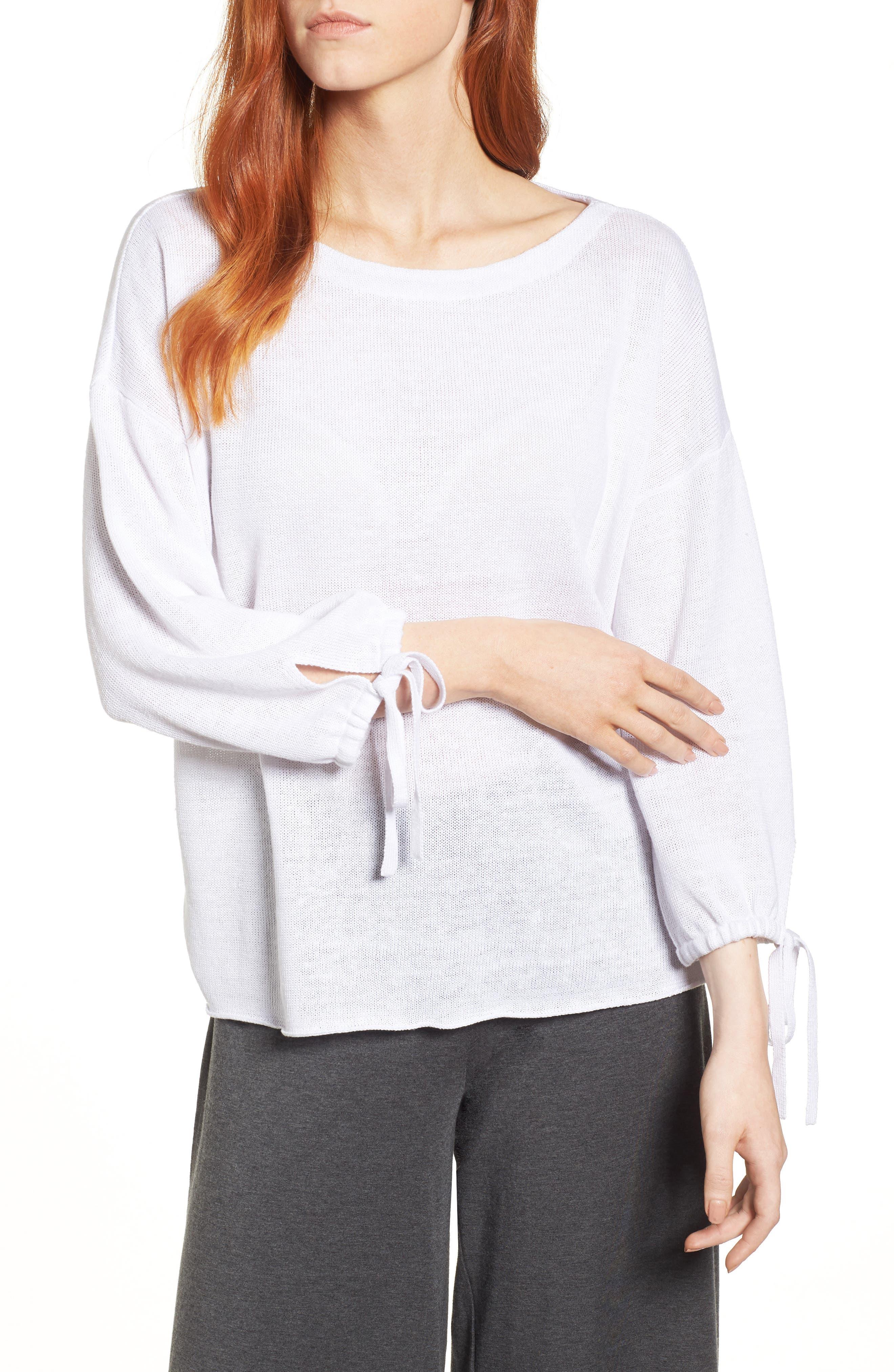 Organic Linen Sweater,                             Main thumbnail 2, color,