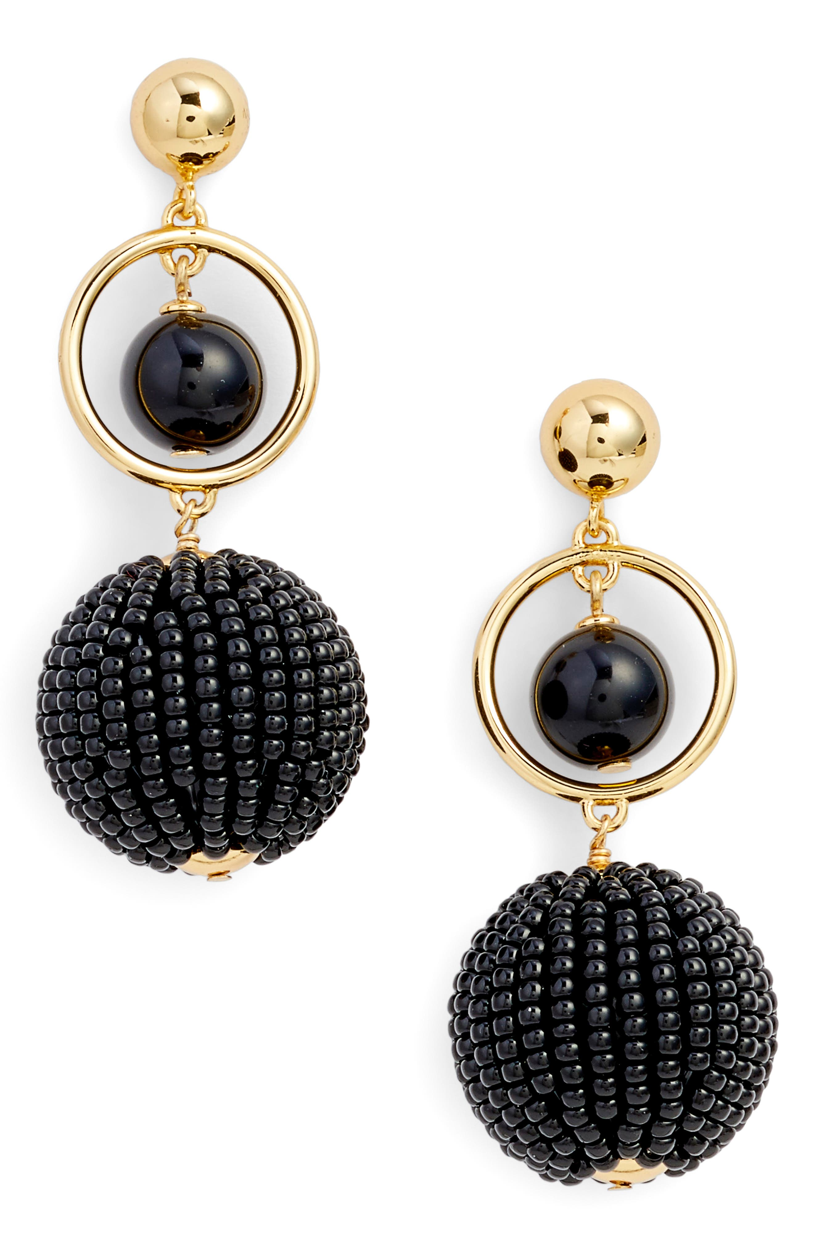 beads and baubles drop earrings,                         Main,                         color, 001