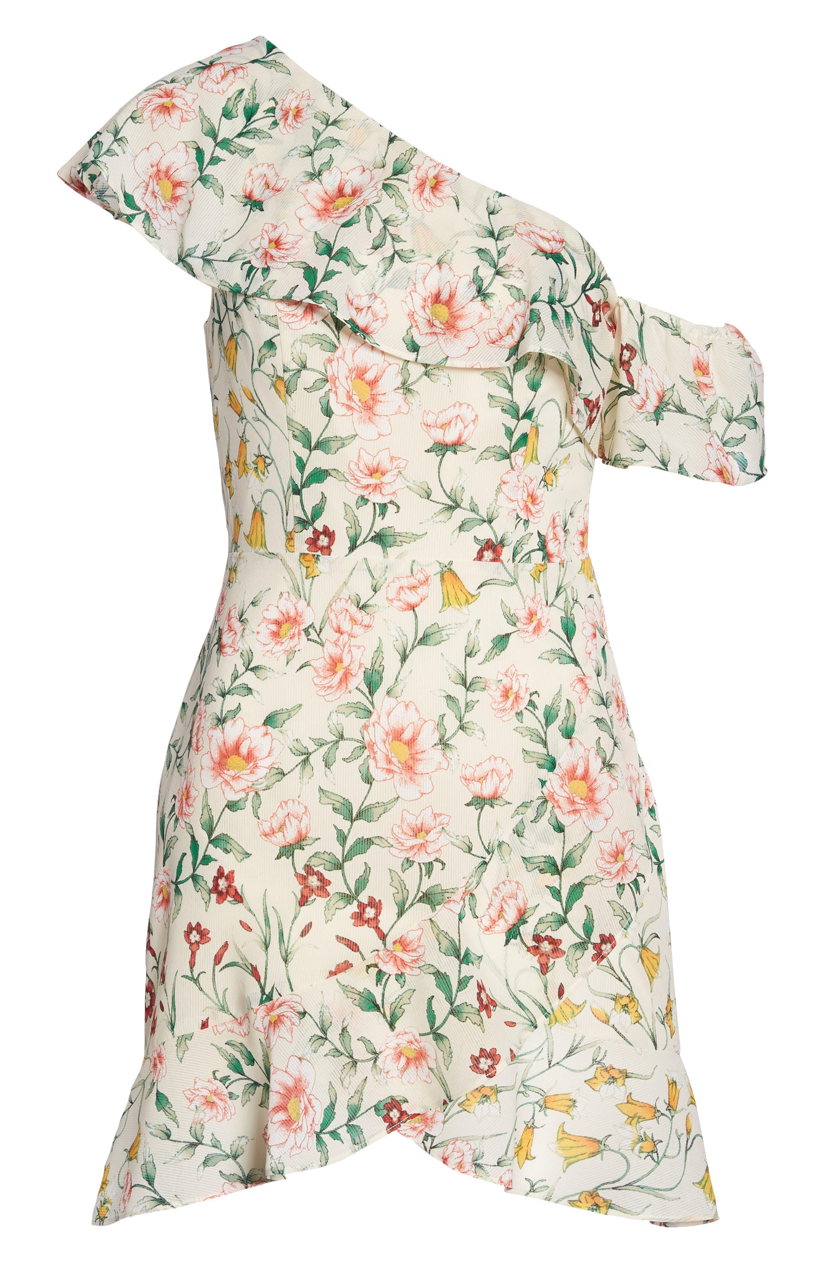 ALI & JAY,                             Zinque Afternoons One-Shoulder Dress,                             Alternate thumbnail 7, color,                             655