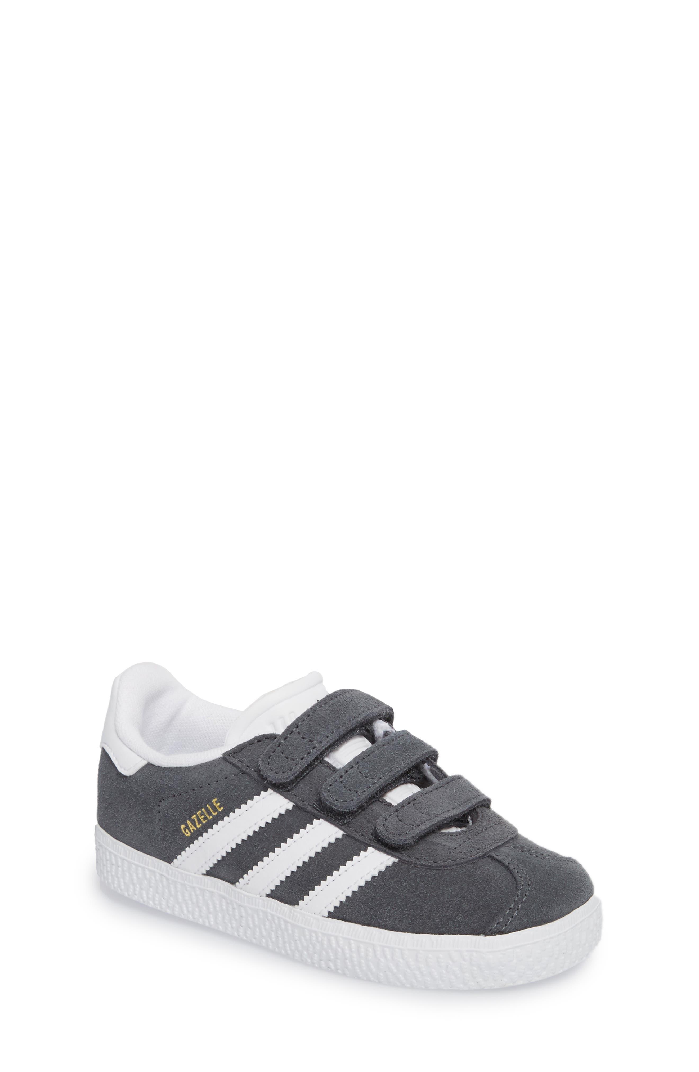 Gazelle Sneaker,                             Main thumbnail 1, color,                             SOLID GREY / WHITE / WHITE