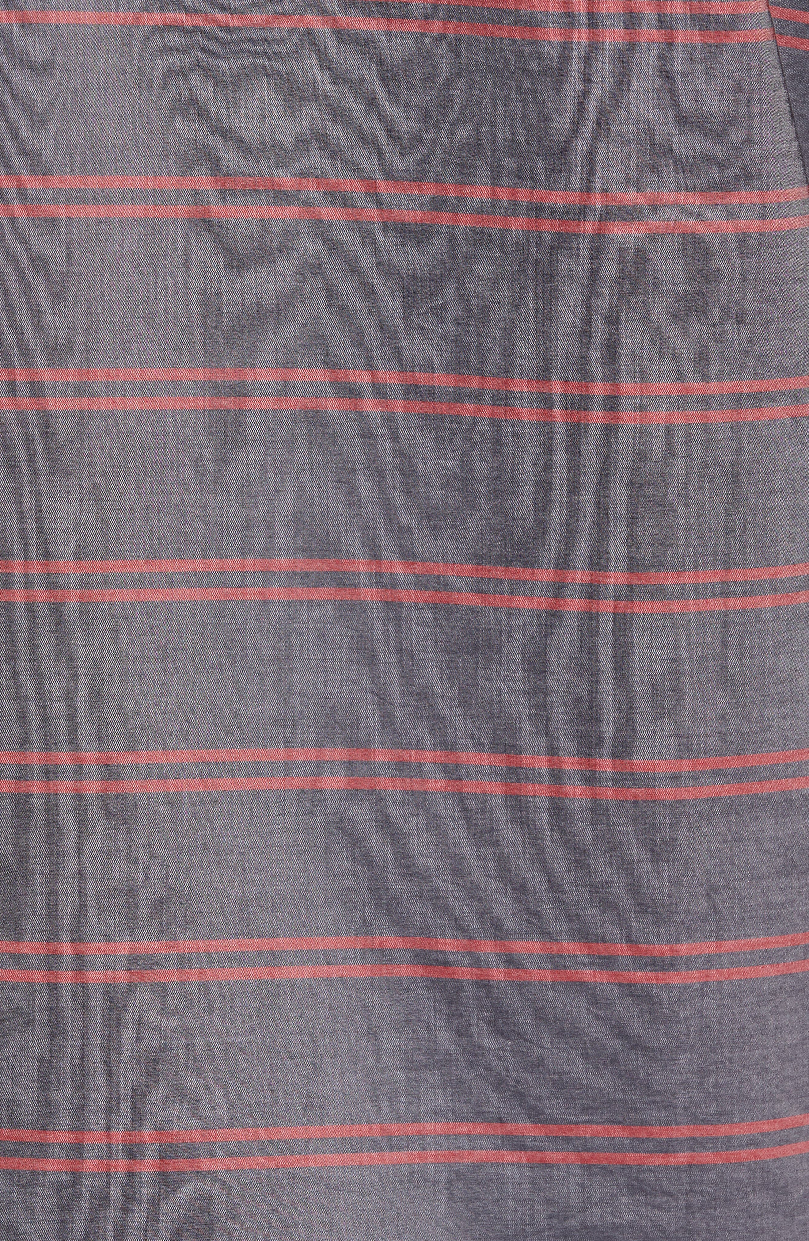 Reid Slim Fit Stripe Sport Shirt,                             Alternate thumbnail 5, color,